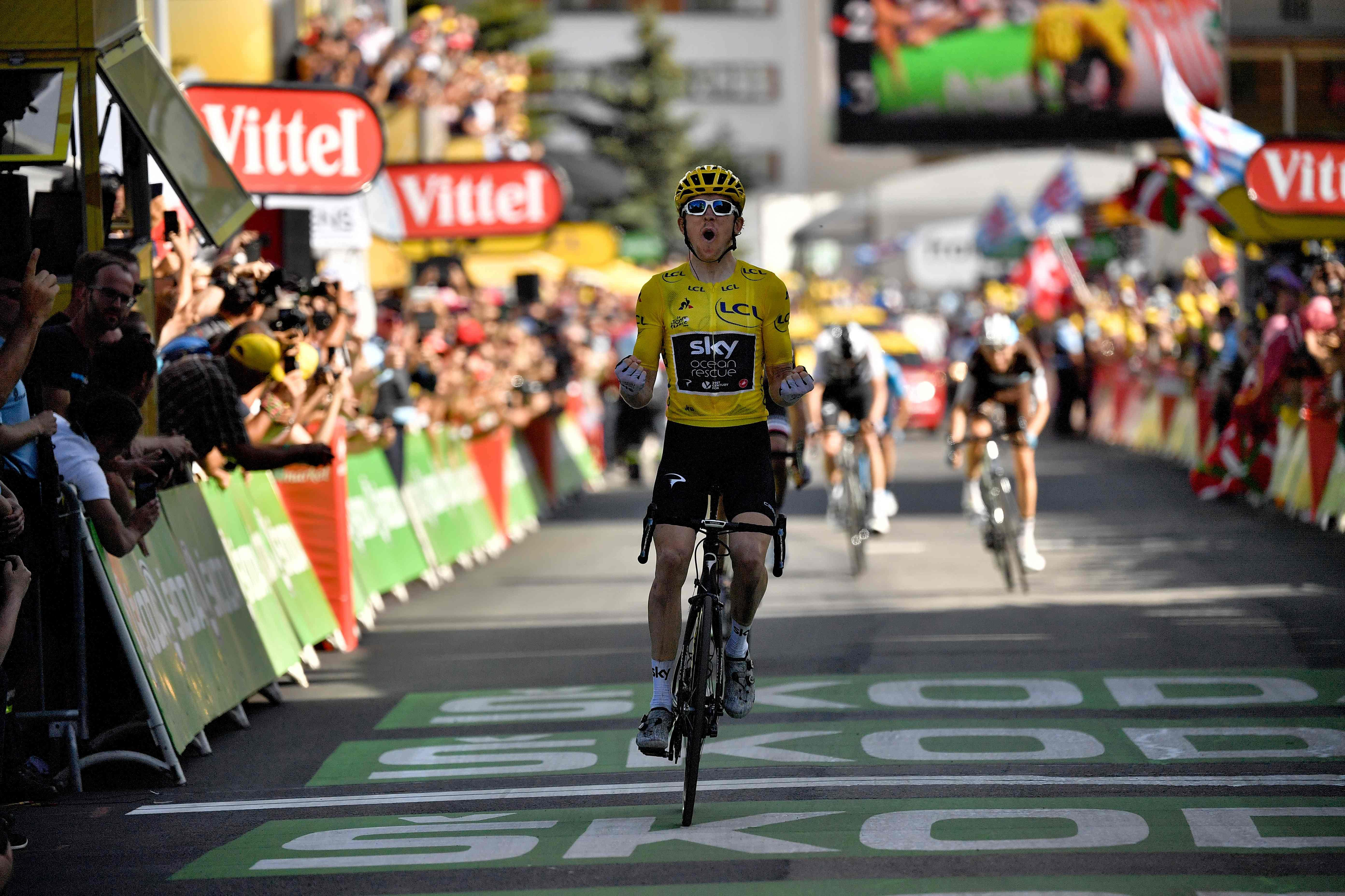The Sky ace outsprinted team-mate Chris Froome on the day