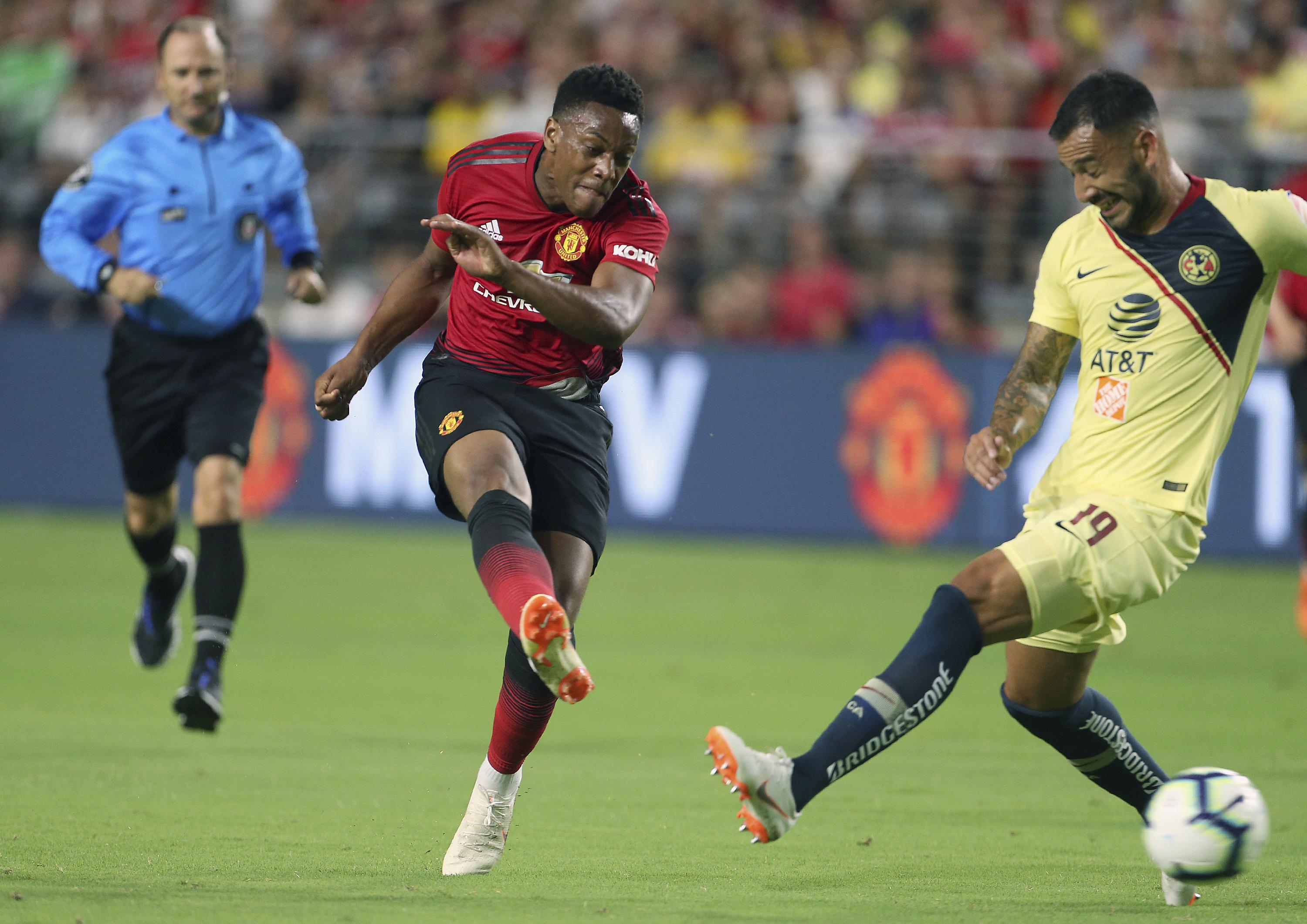 Anthony Martial looked dangerous against Club America with Alexis Sanchez yet to link up with the squad