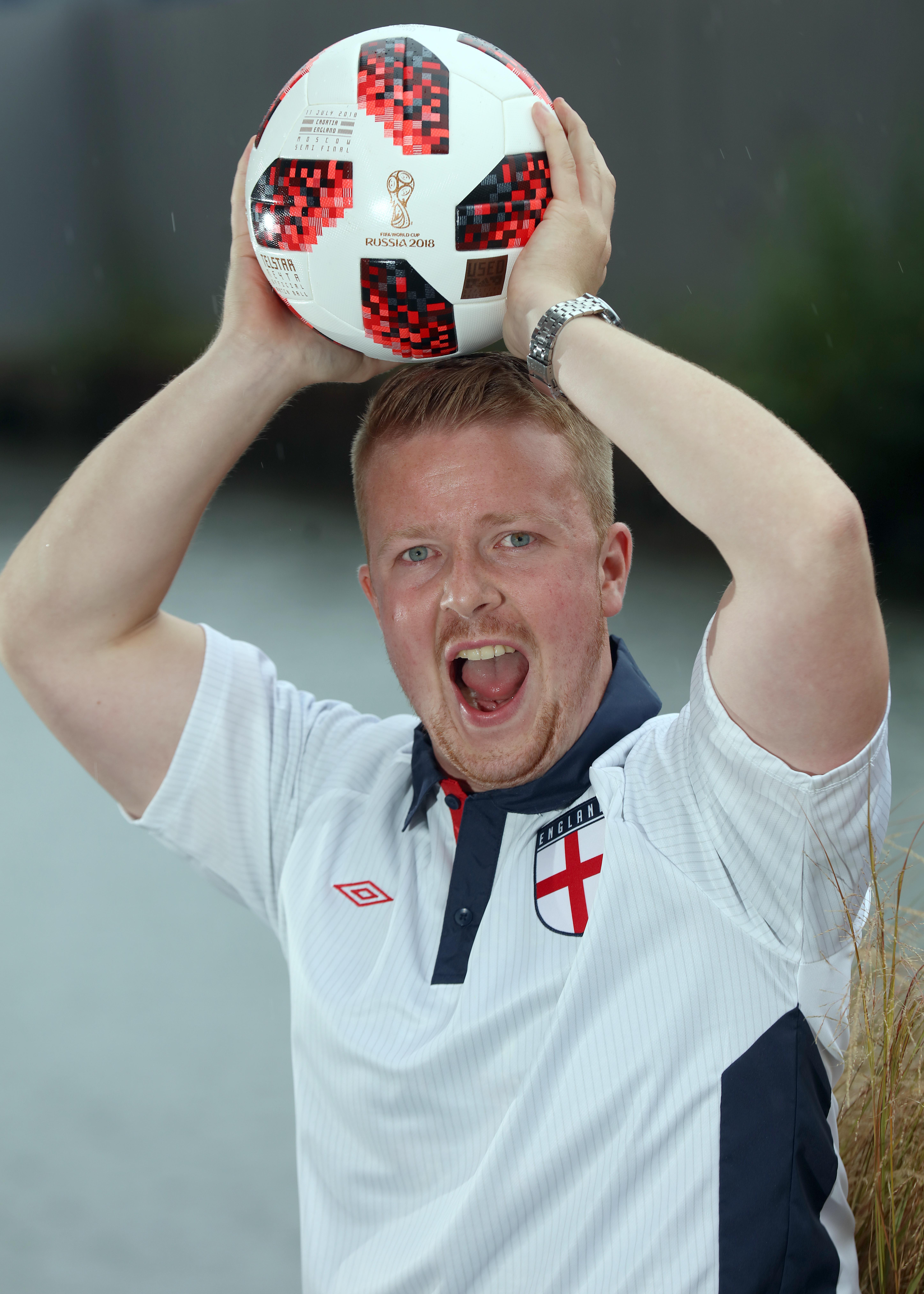Christian Walters couldn't believe it when he found out he won the England World Cup semi-final ball