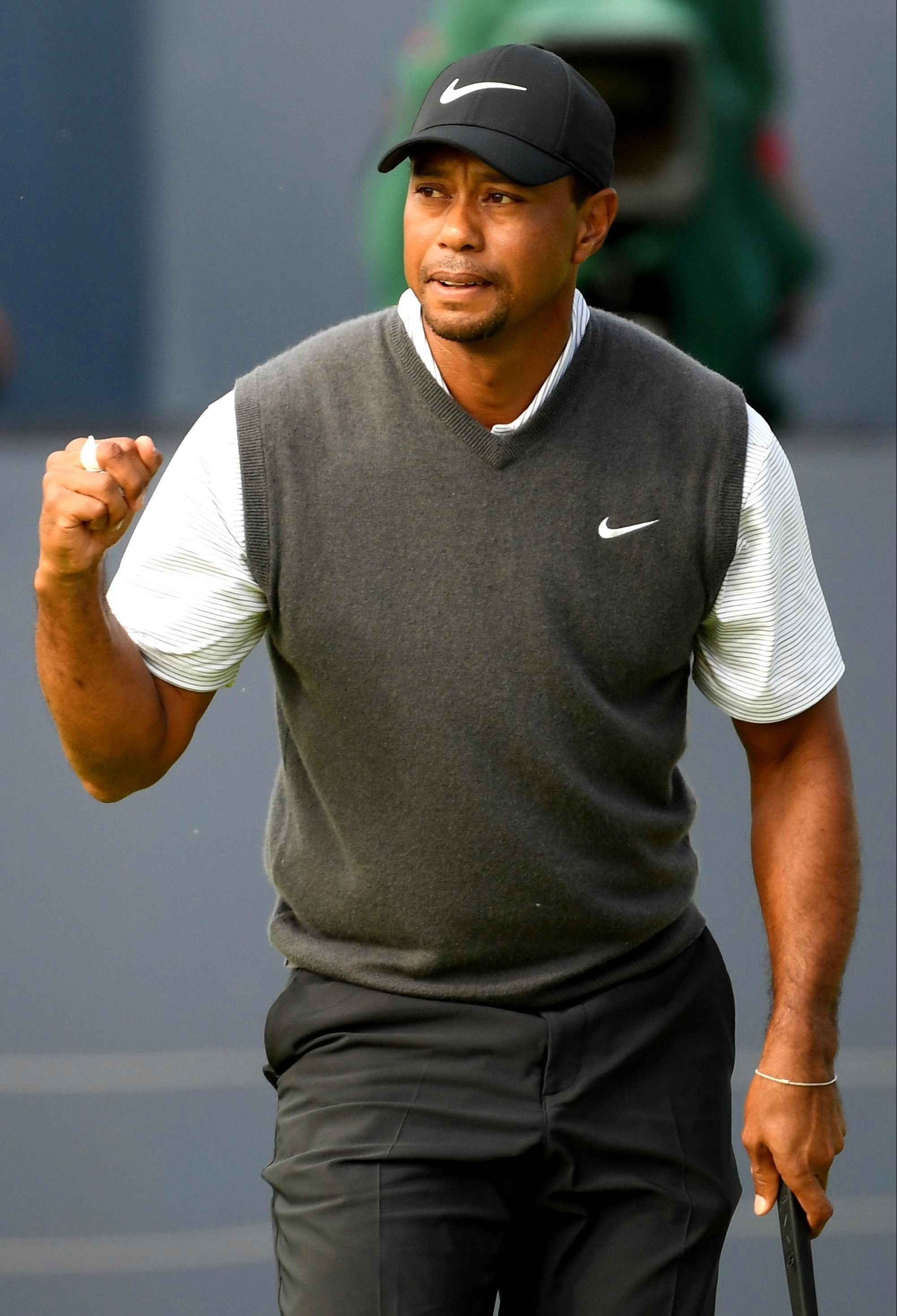 Tiger Woods finished just behind champion Francesco Molinari at The Open