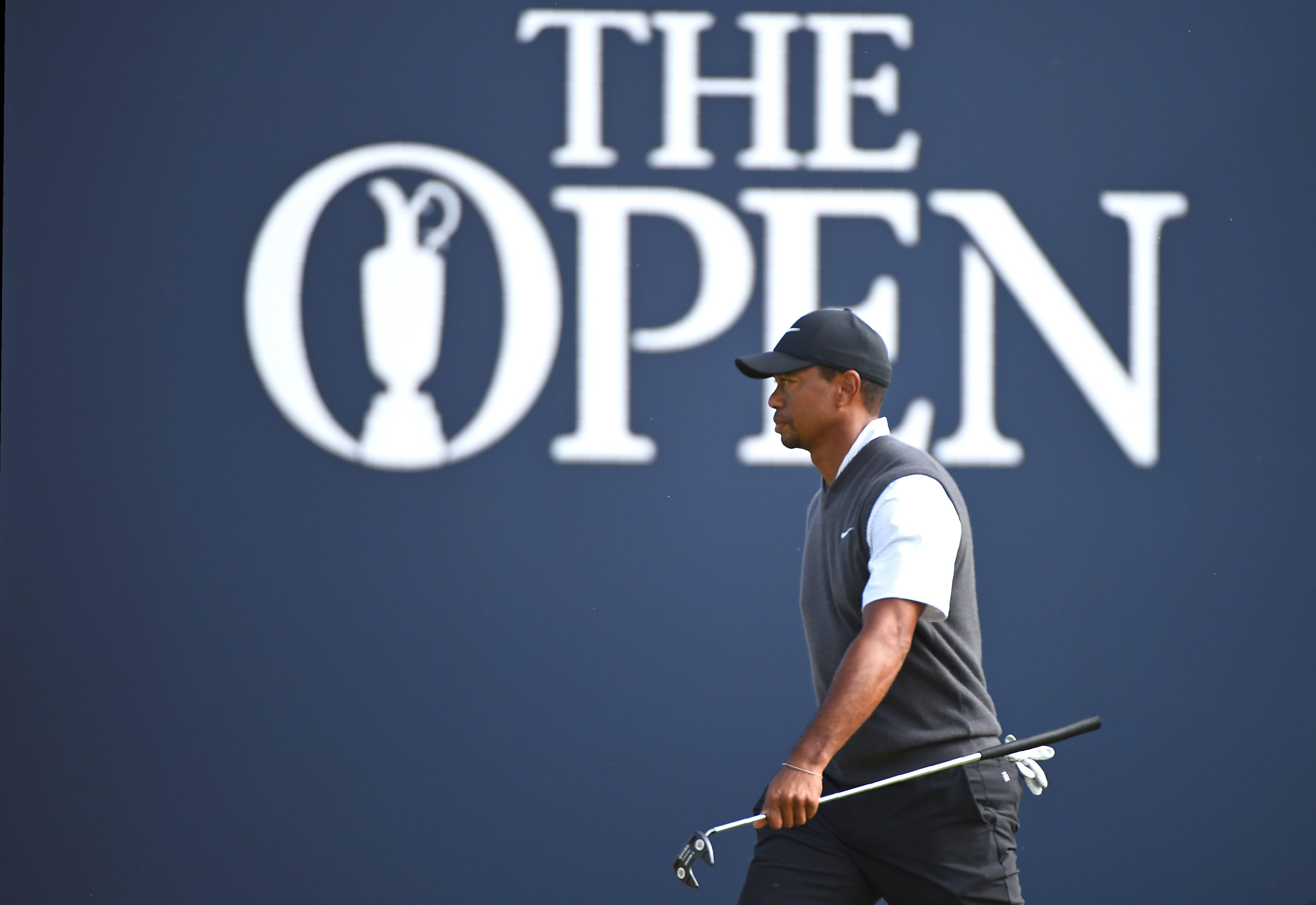 Tiger Woods is just four shots behind the leaders going into the last day at Carnoustie