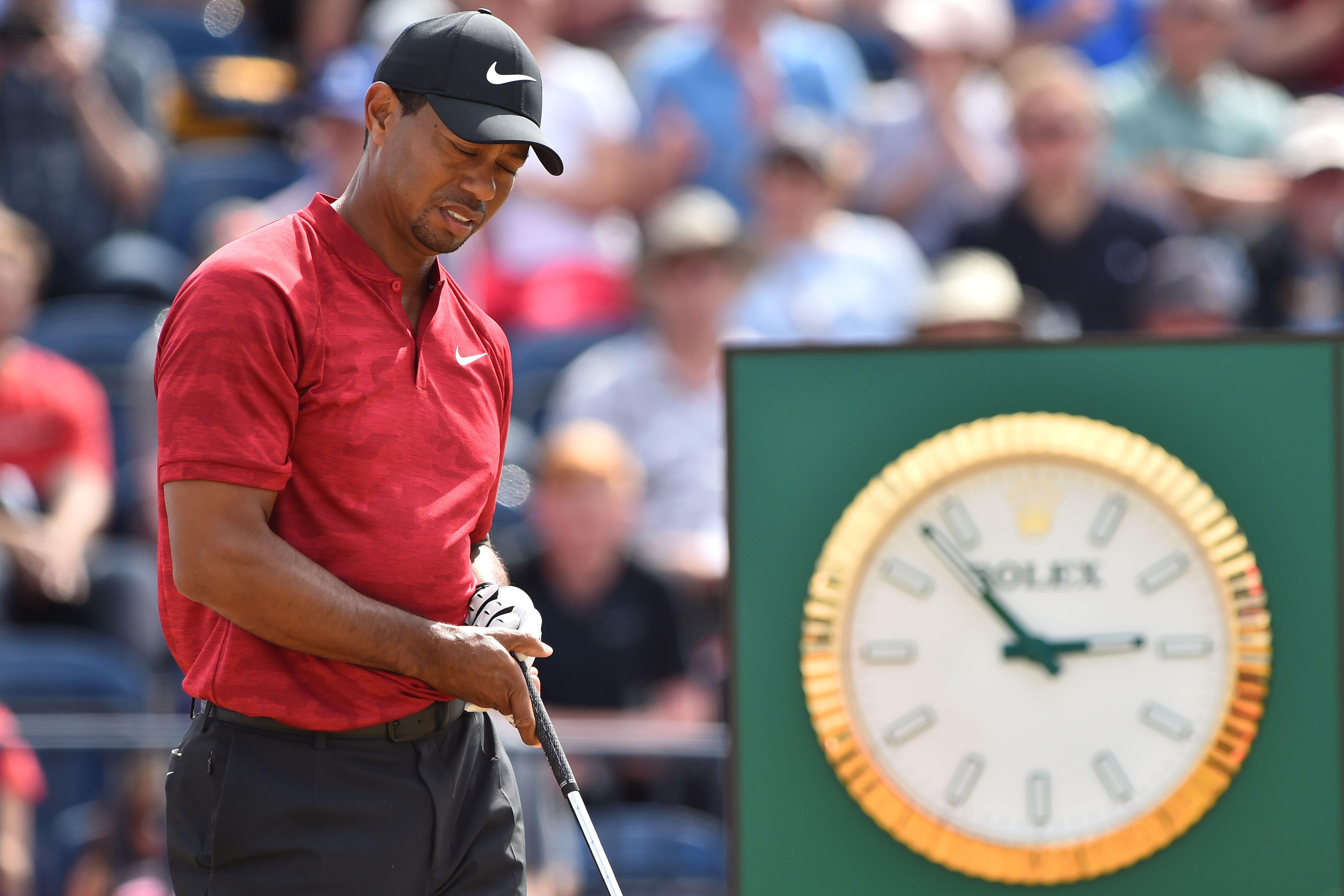 Woods, 42, came agonisingly close to winning The Open after he led during the final round