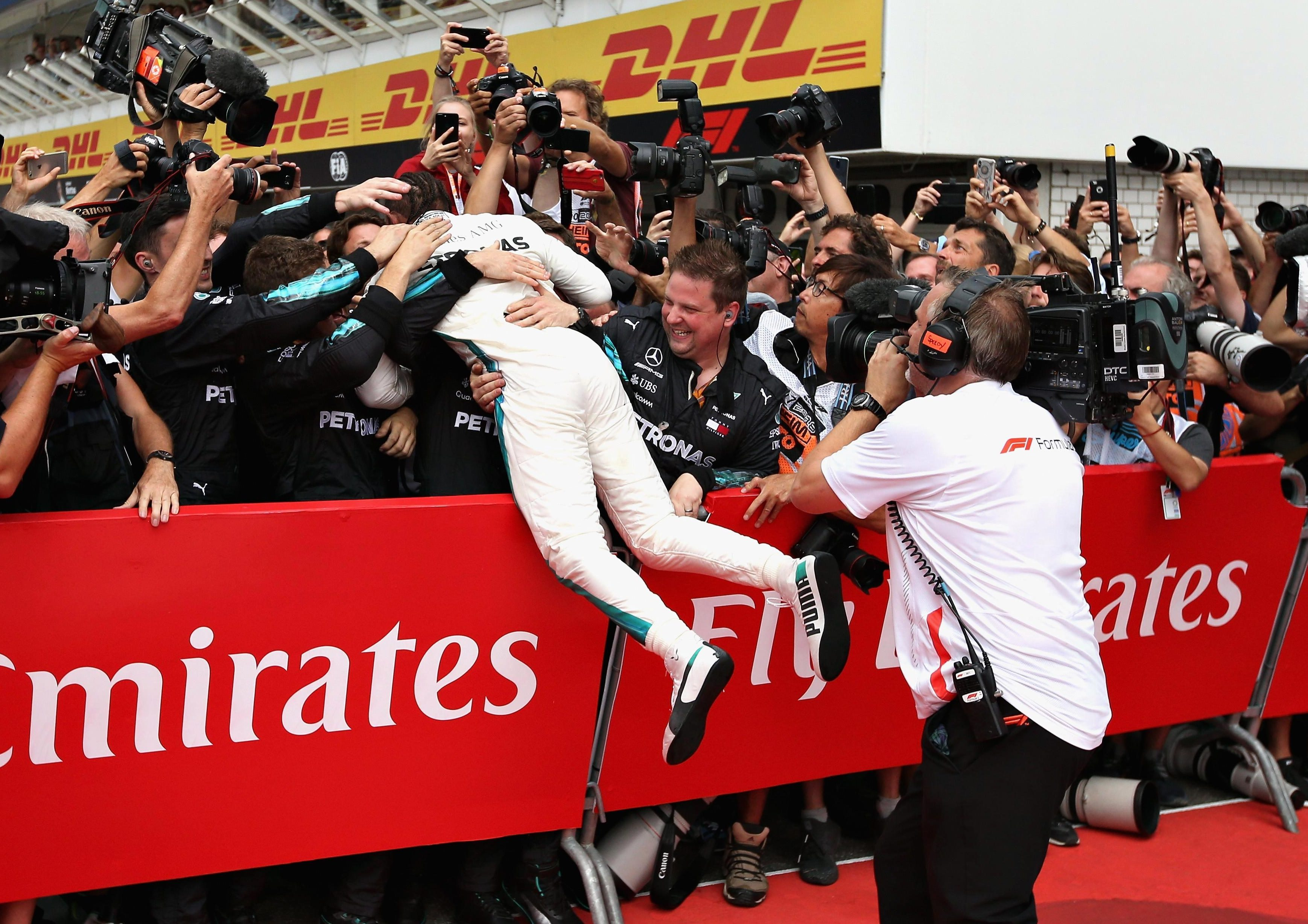 Hamilton leads the drivers' standings by 17 points from Vettel, with ten races still to go