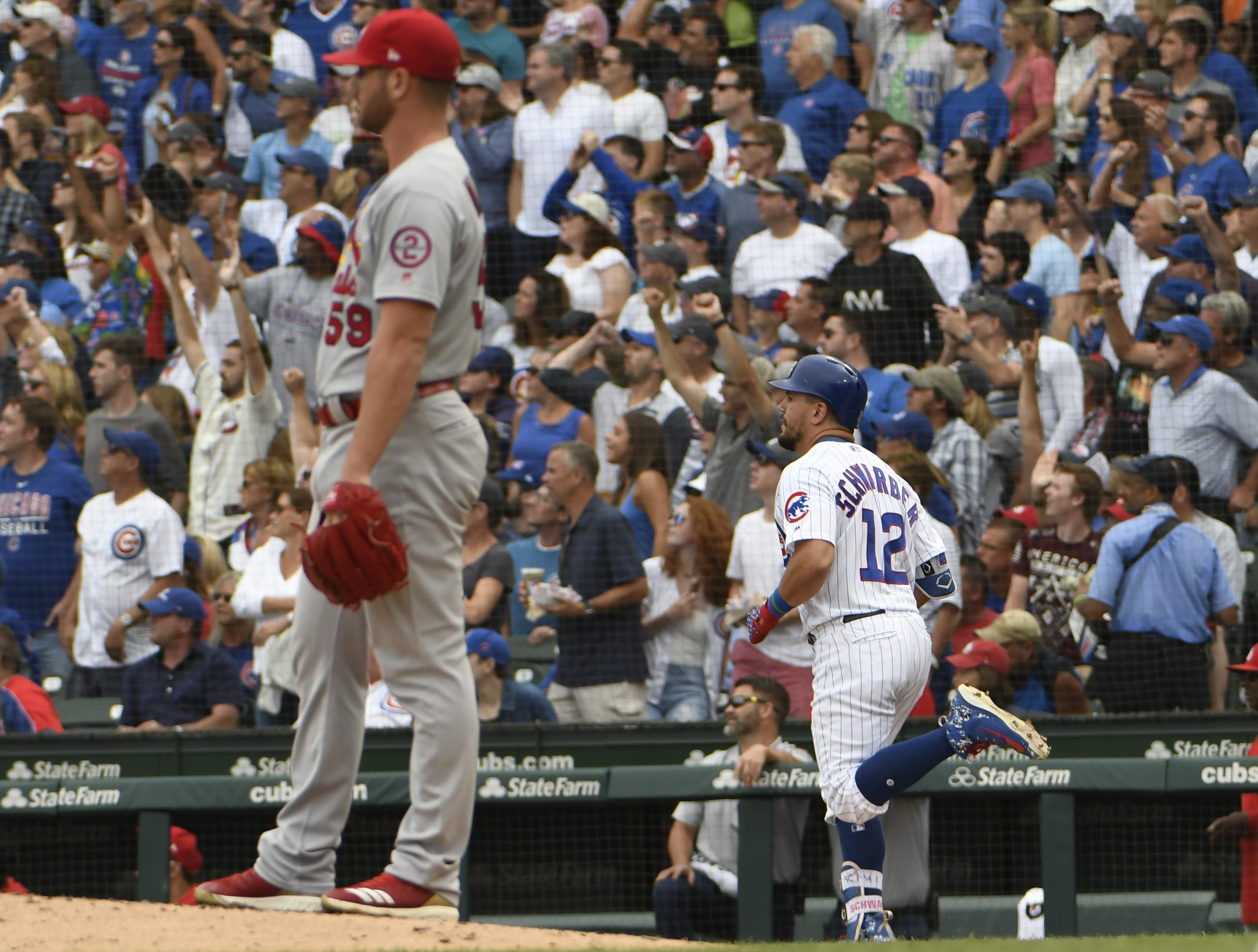 The Chicago Cubs went on to beat the St Louis Cardinals 7-2