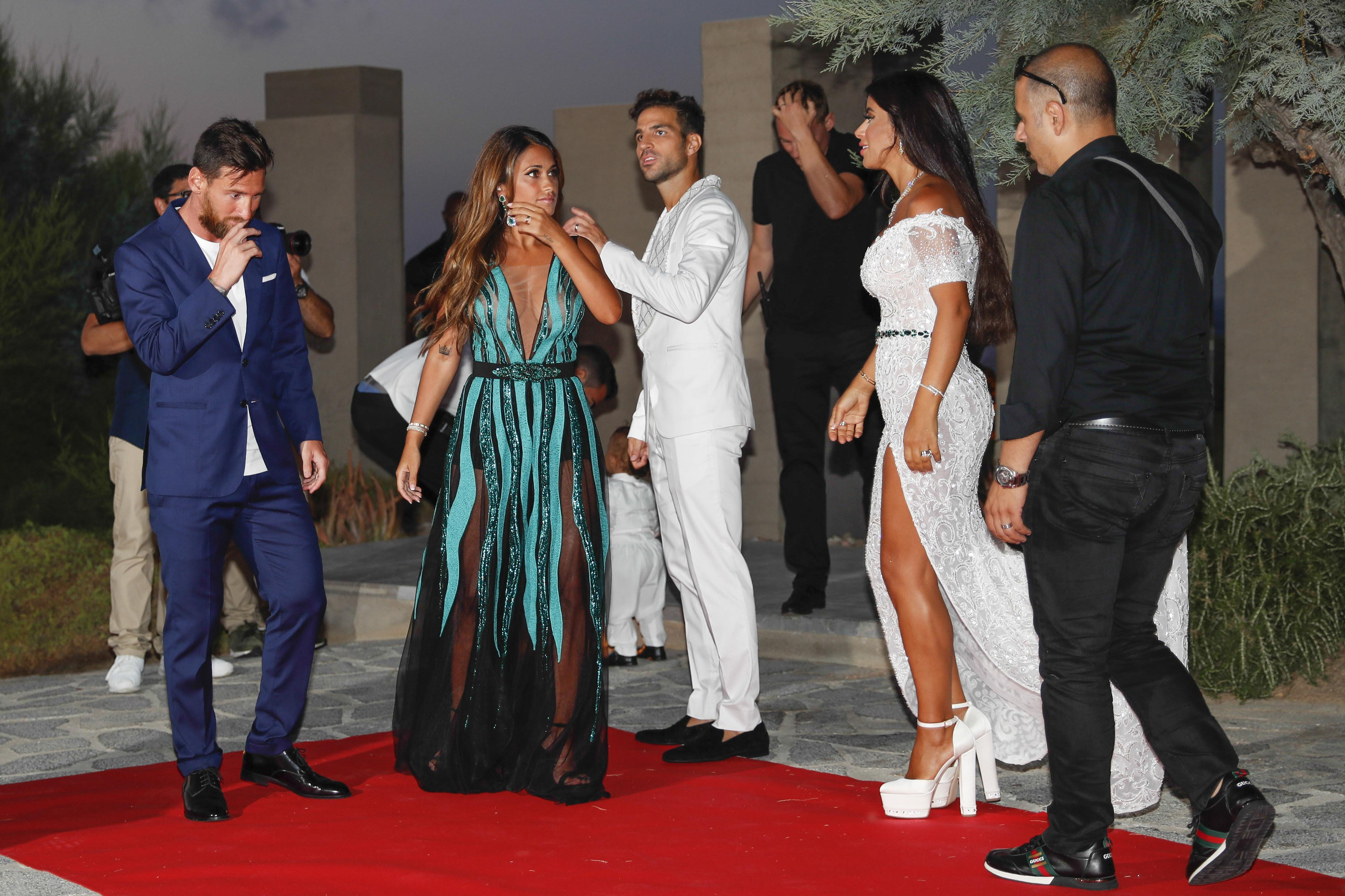 Cesc Fabregas and wife Daniella Semaan are good friends with Lionel Messi and Antonella Roccuzzo having been on holiday together before