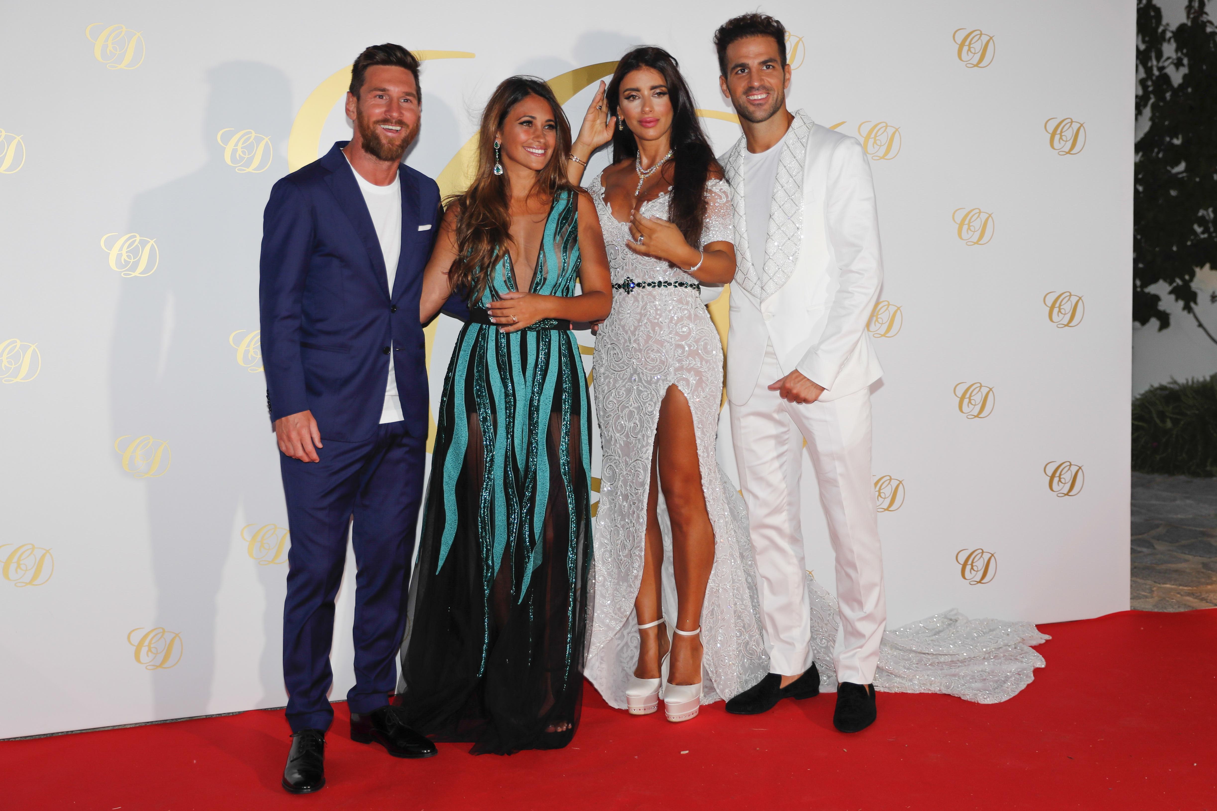 Lionel Messi and Antonella Roccuzzo attend Cesc Fabregas' post-wedding party in Ibiza