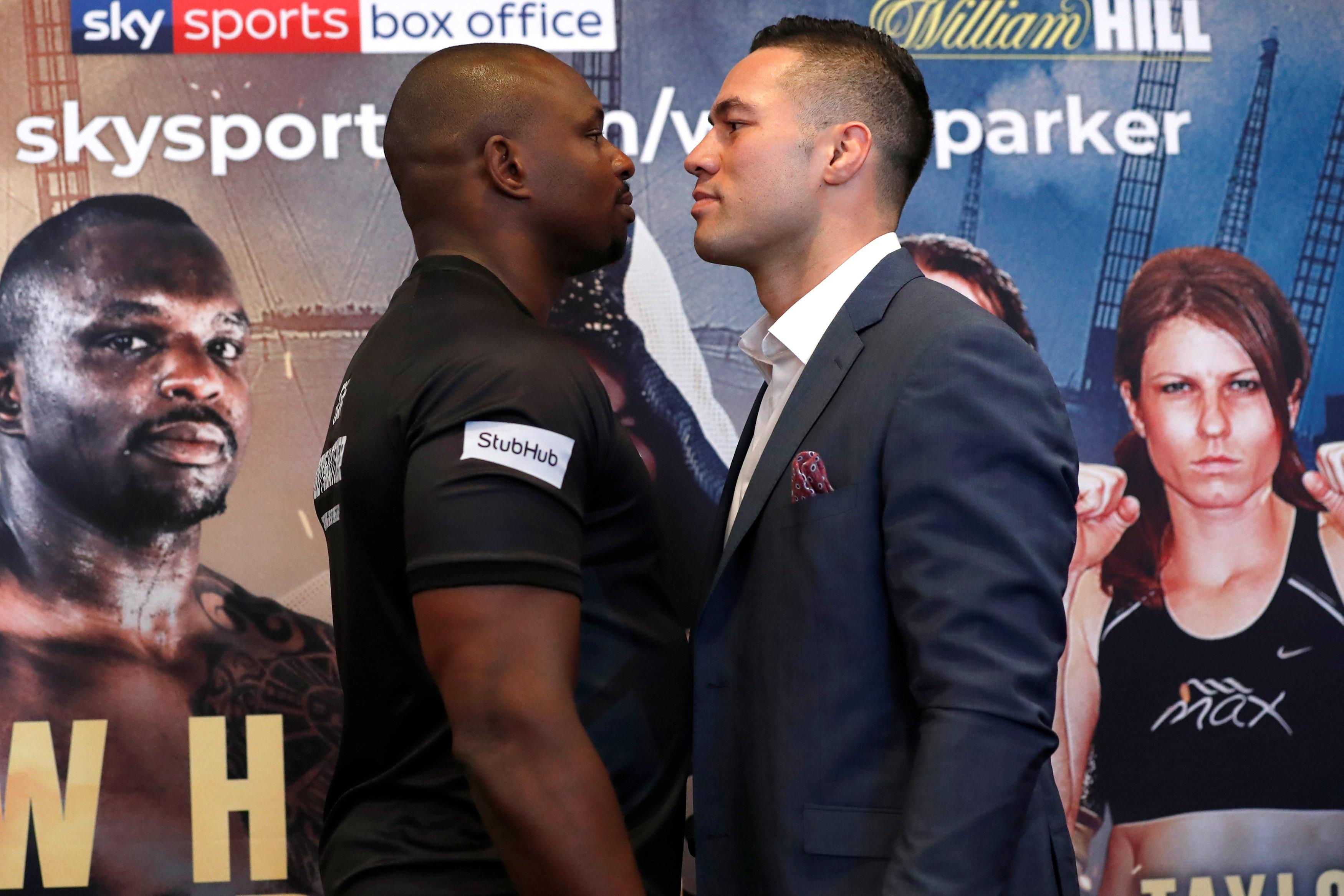 Former WBO heavyweight champ Joseph Parker is confident he can defeat Dillian Whyte at the 02 Arena