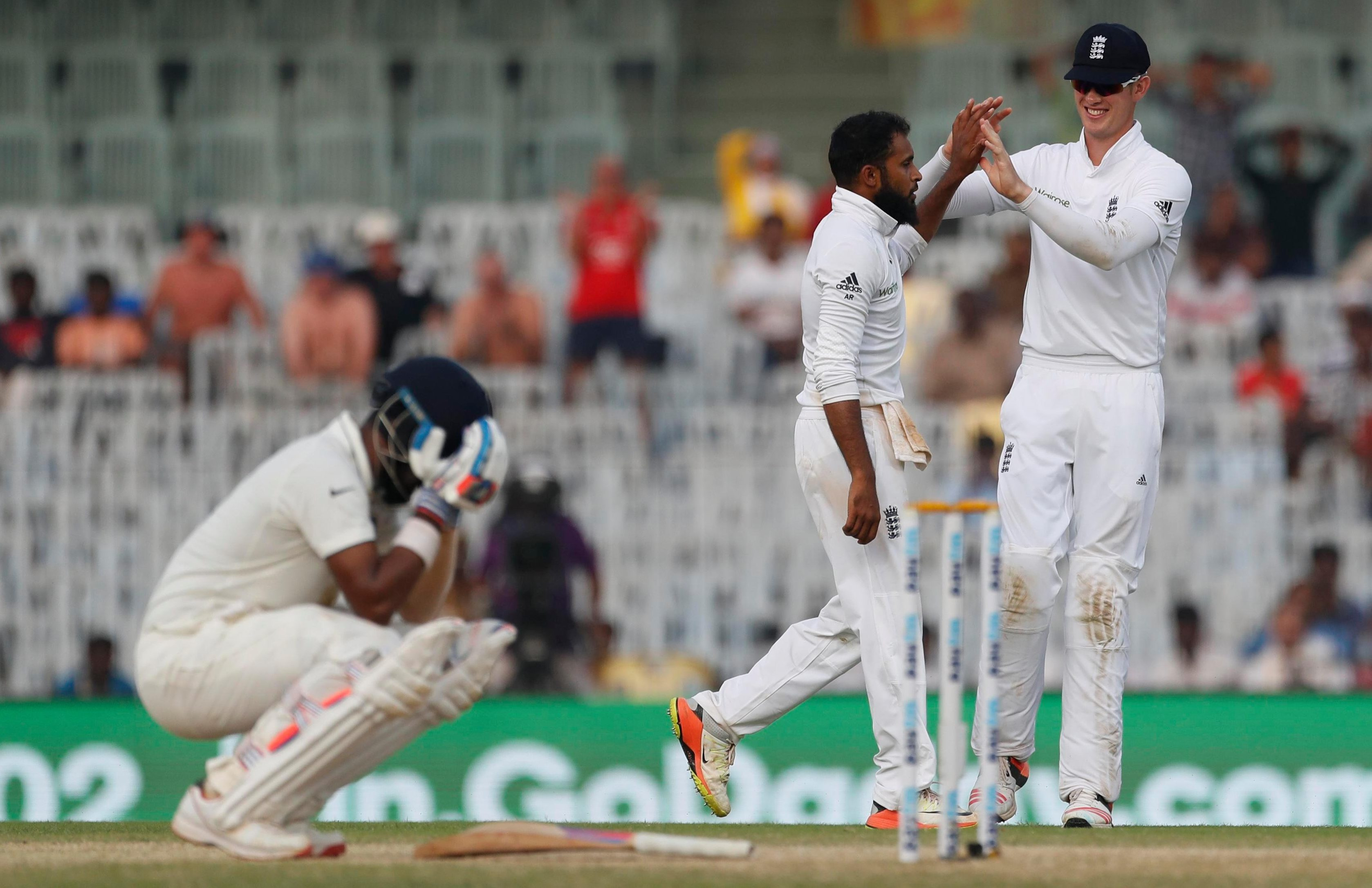 Adil Rashid has played ten Tests for England, taking 38 wickets at 42.78