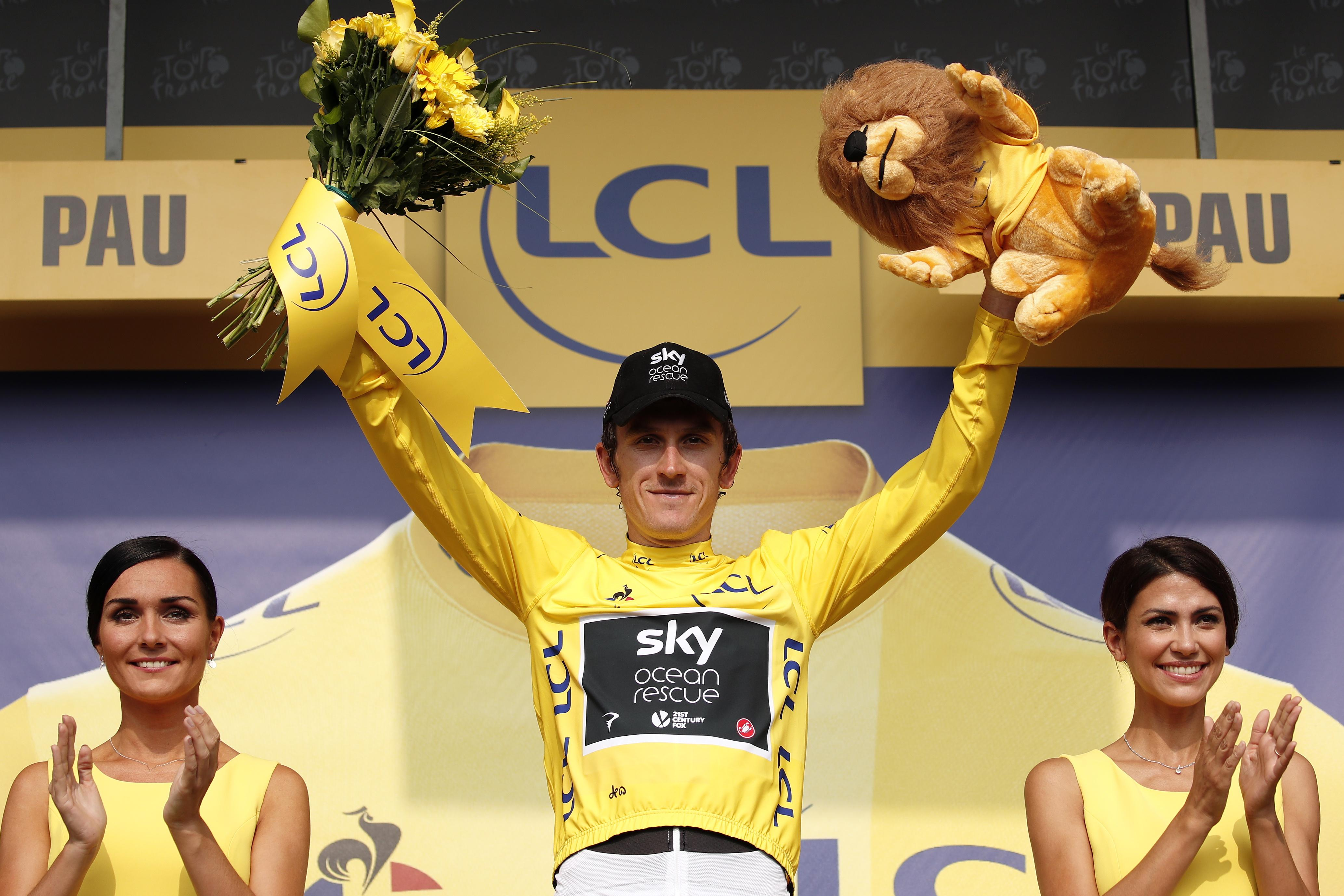 Team Sky ace Geraint Thomas still has the Yellow Jersey with a 1min 59sec lead over Tom Dumoulin