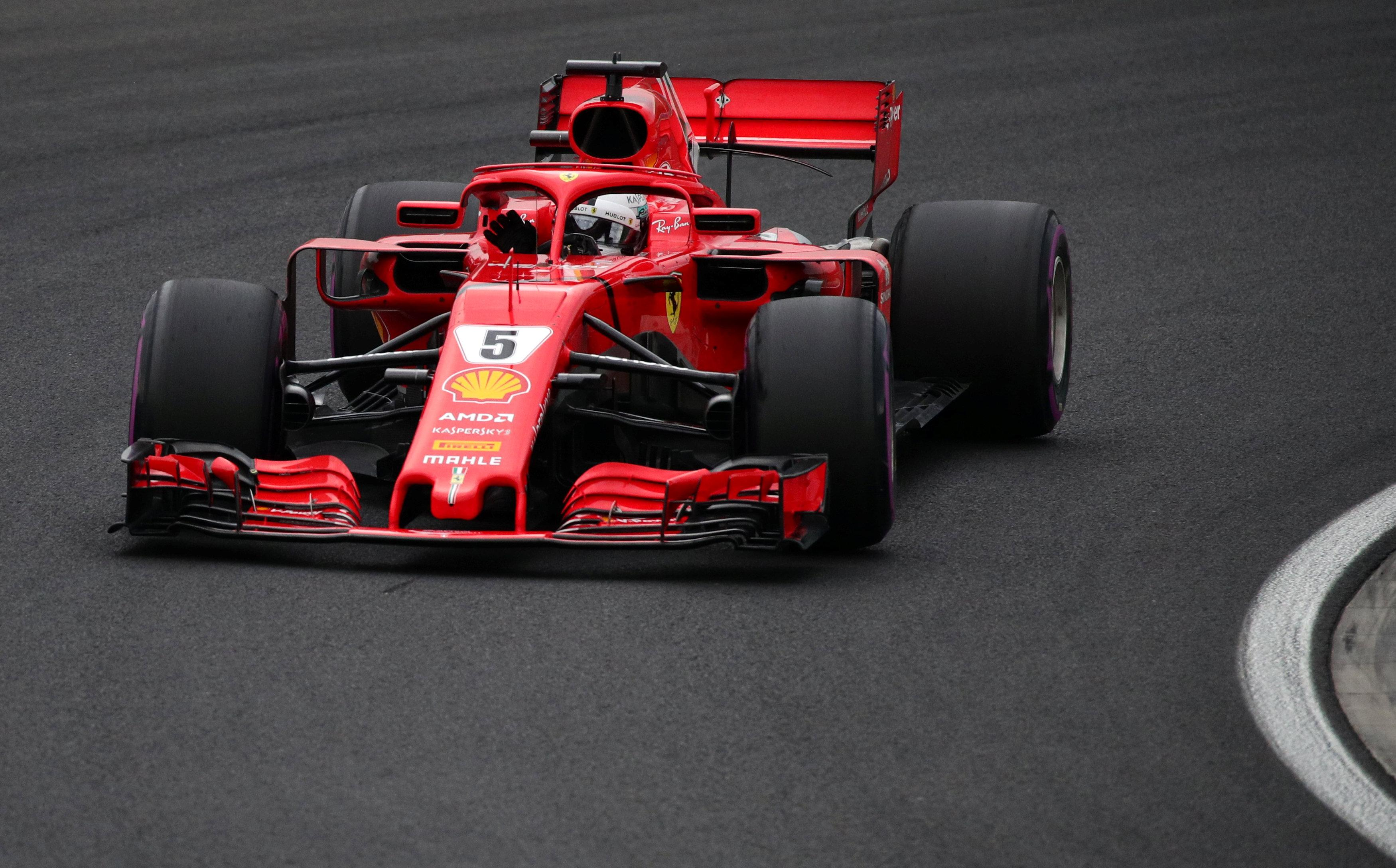 Vettel had to settle for fourth after failing to get ahead of team-mate Raikkonen on the last qualifying lap