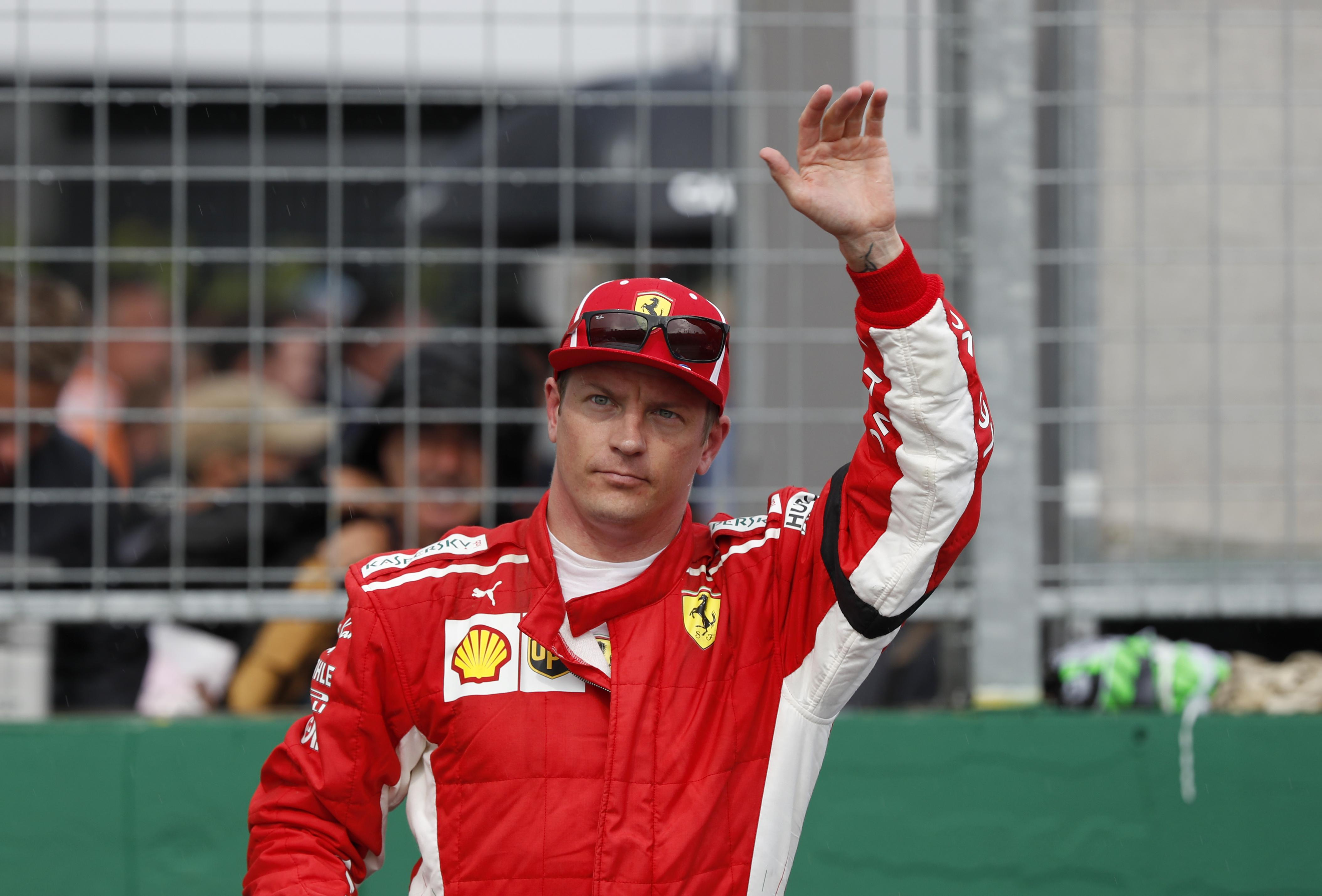 Raikkonen finished ahead of his Ferrari team-mate Vettel