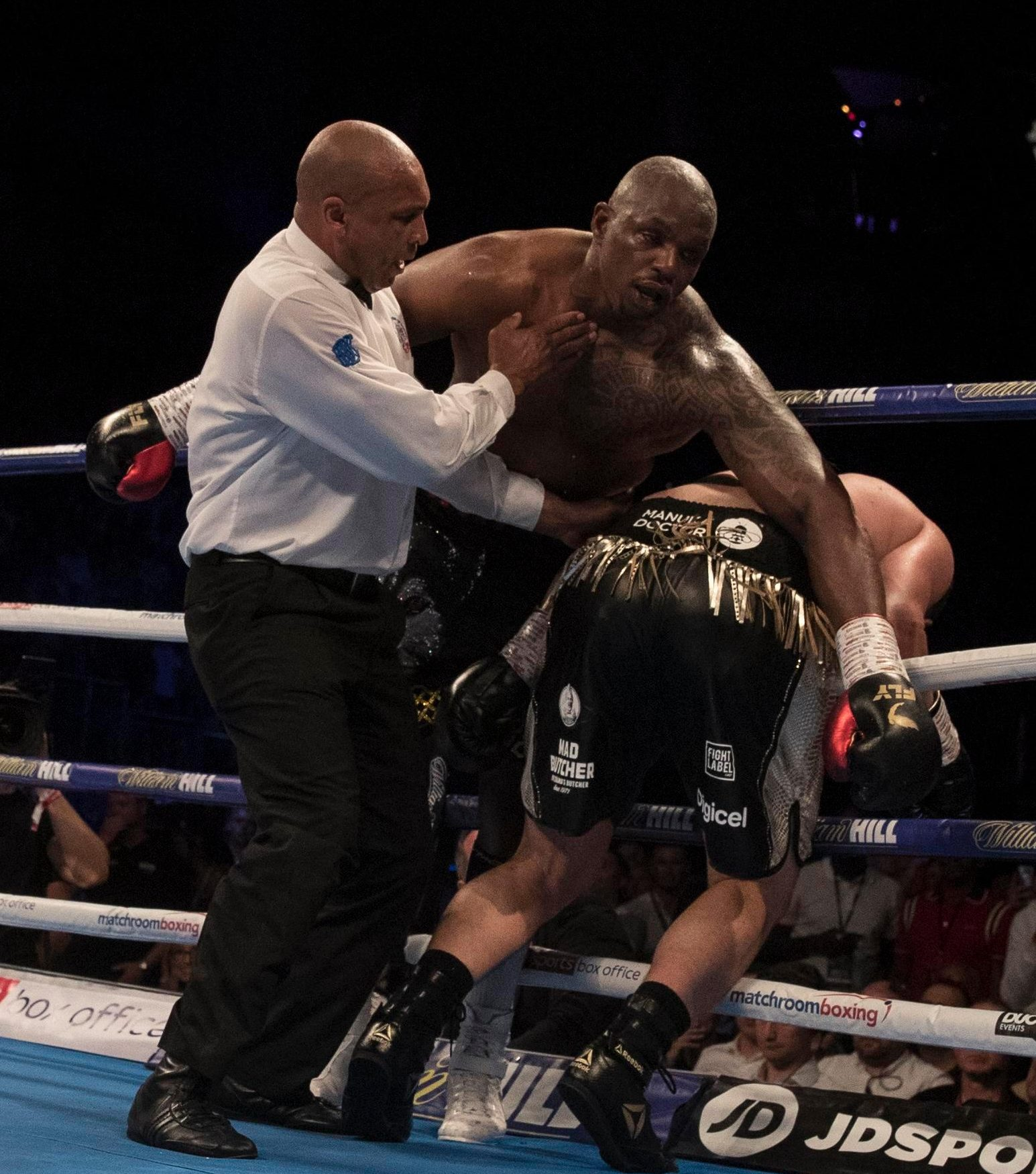 Both fighters were out on their feet towards the end of the scrap