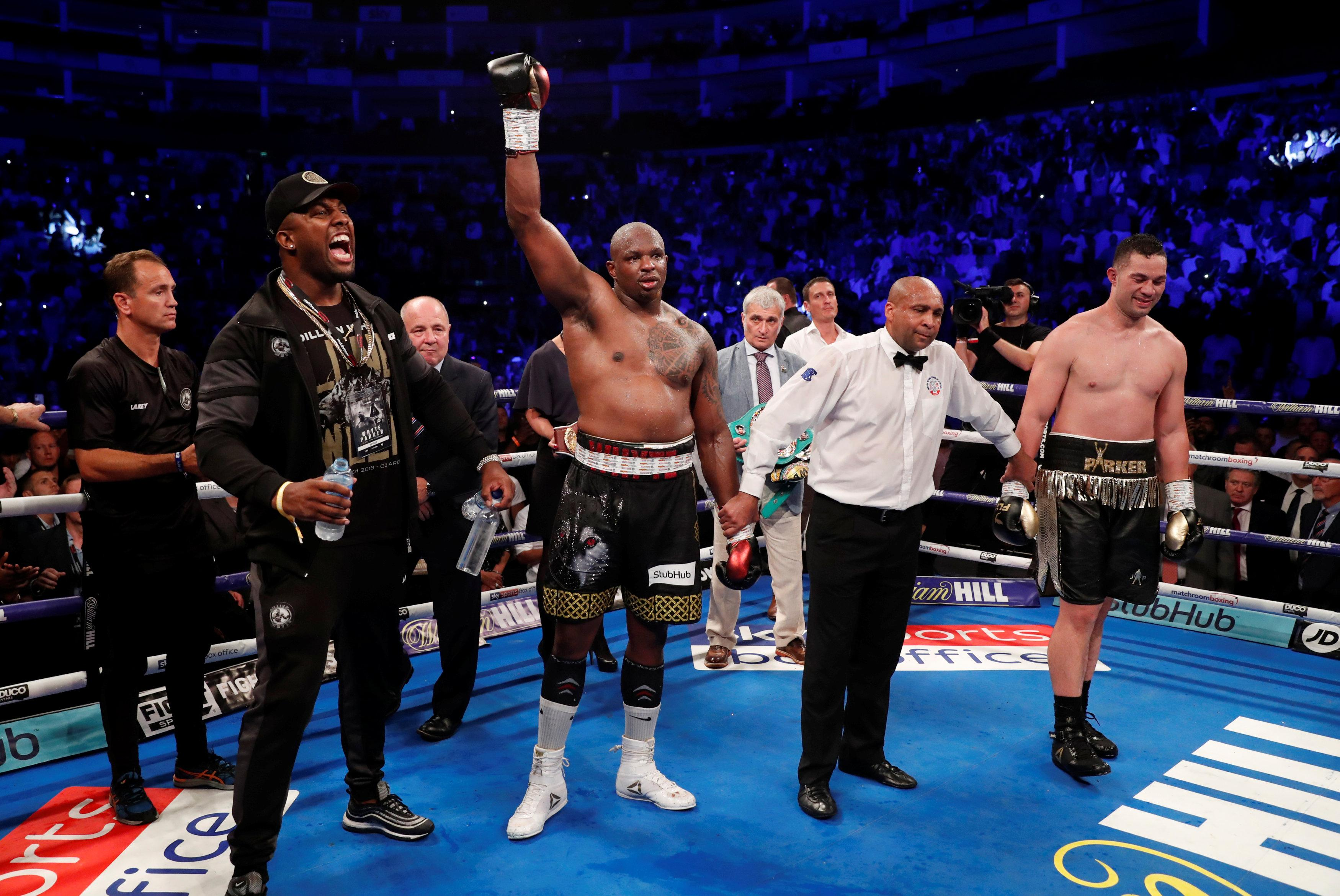 Dillian Whyte was exhausted at the end but held on for a memorable victory