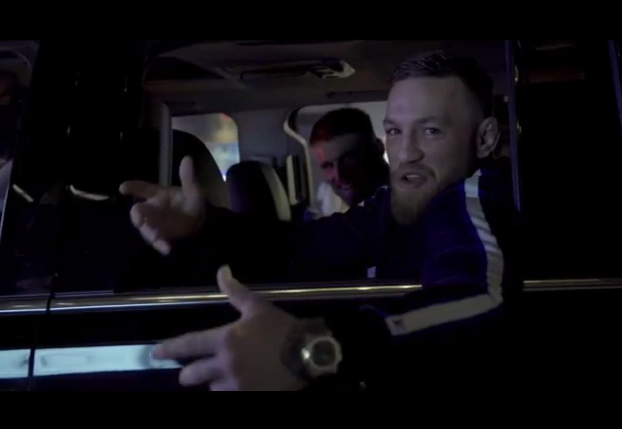 Conor McGregor gives a shout out to Irishmen all over the world
