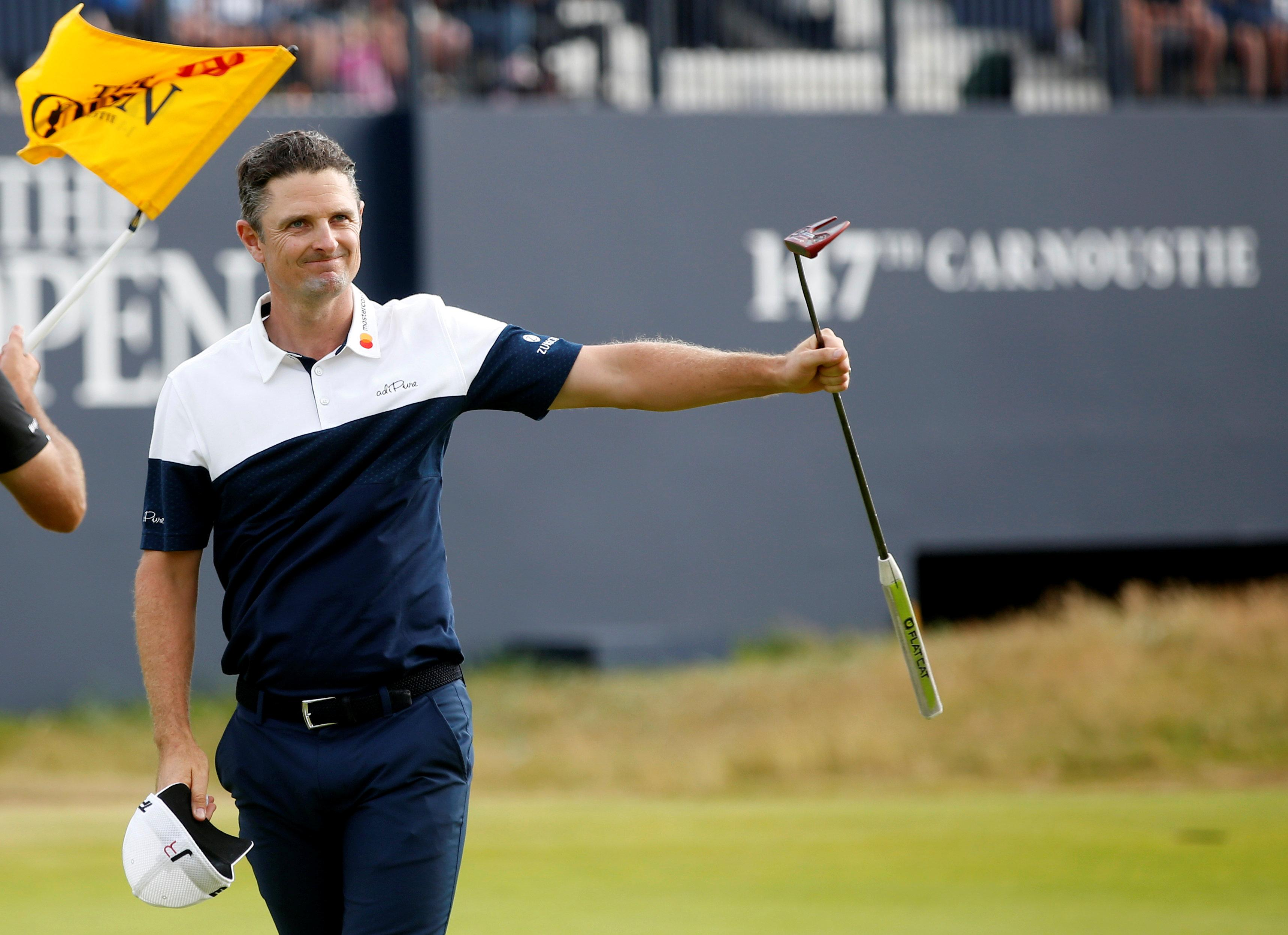 Justin Rose birdied Carnoustie's brutal 18th for the fourth time to cap off an amazing weekend move