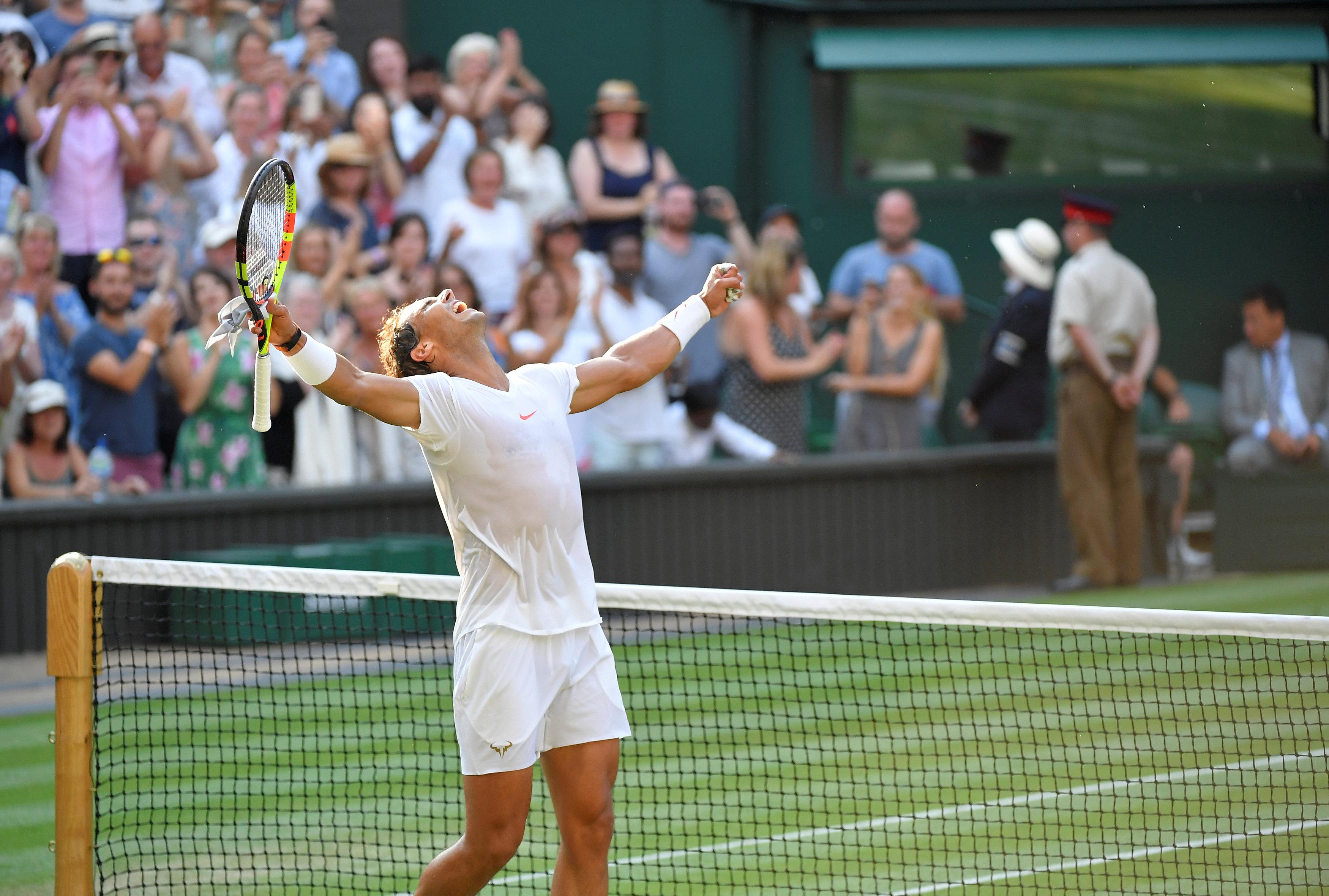 Rafa Nadal is through to the quarter-finals and can end eight years of hurt at Wimbledon