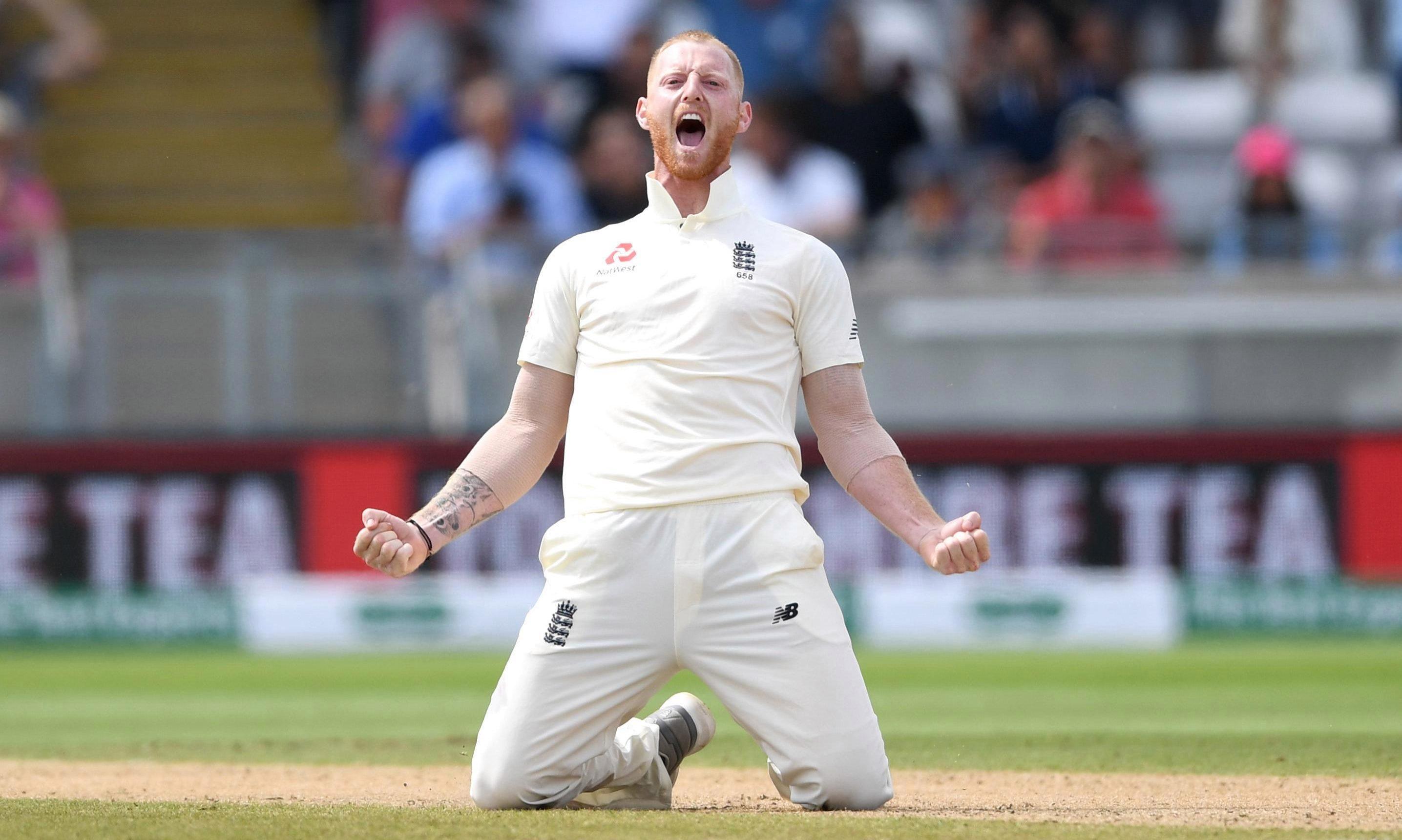 Ben Stokes celebrates his crucial wicket of Virat Kohli