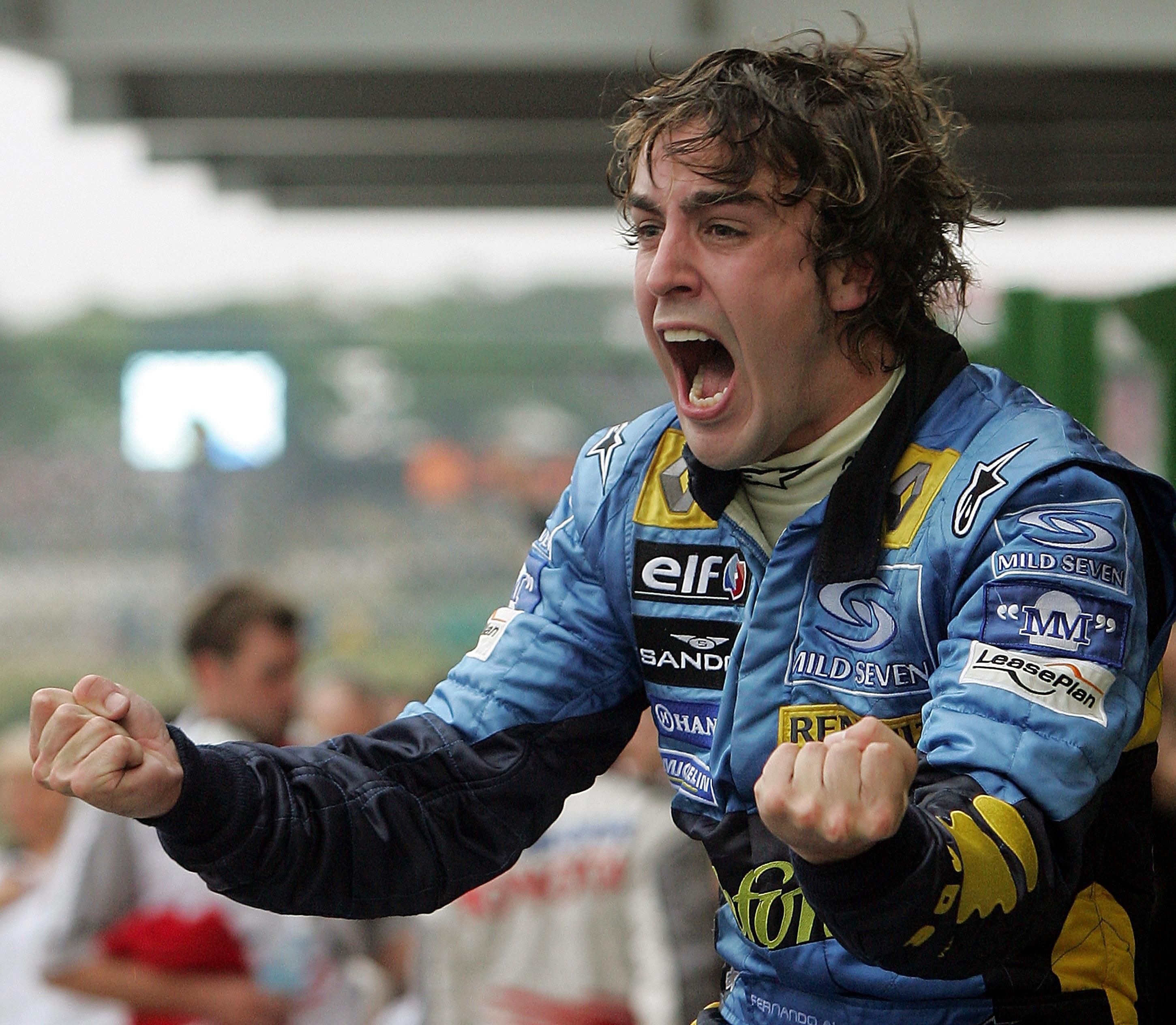 Fernando Alonso won his first world championship with Renault in 2005