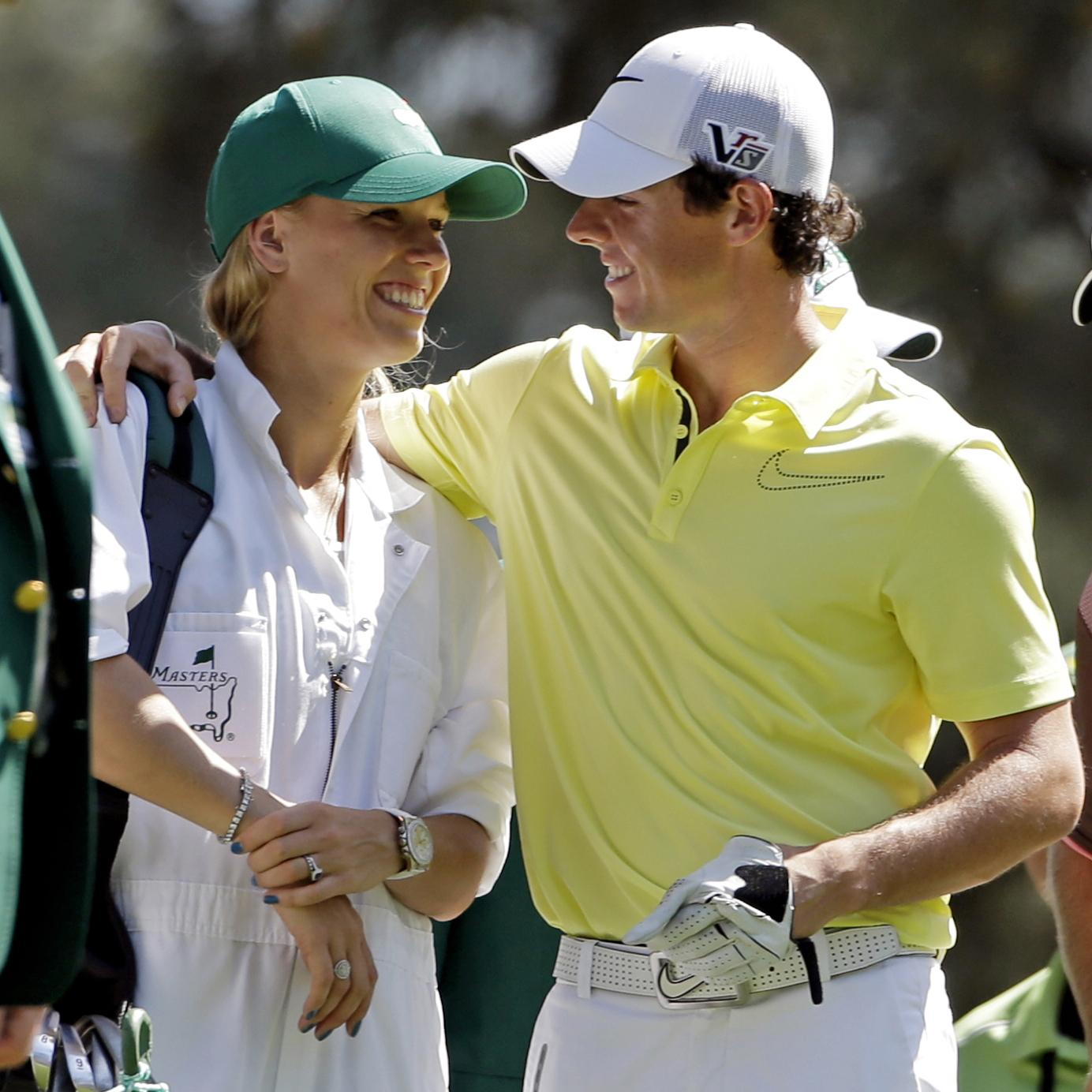 Wozniacki was once engaged to British golfer Rory McIlroy but the pair broke up