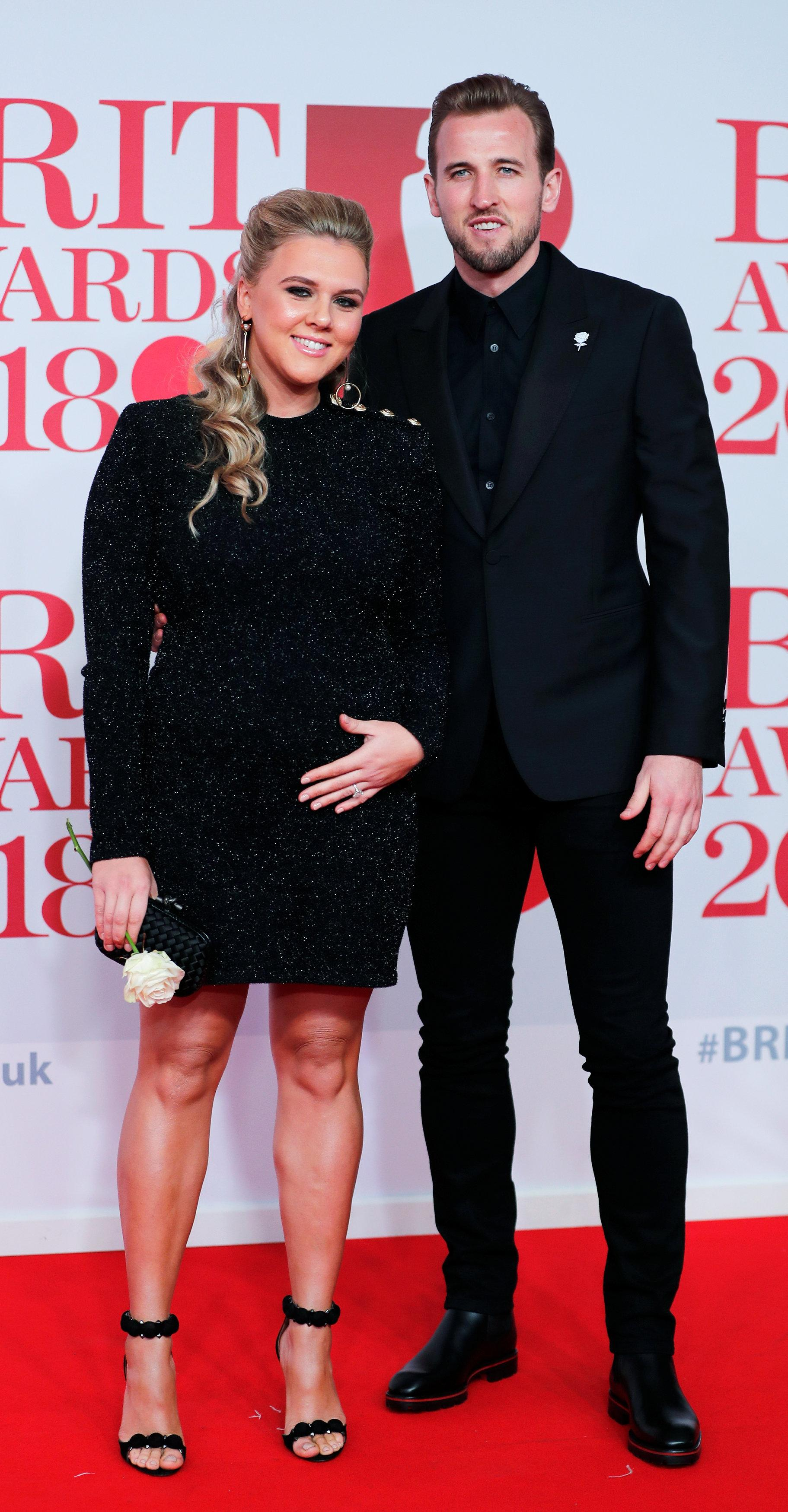 Harry Kane and partner Katie Goodland have gone from a family unit of three to one of four