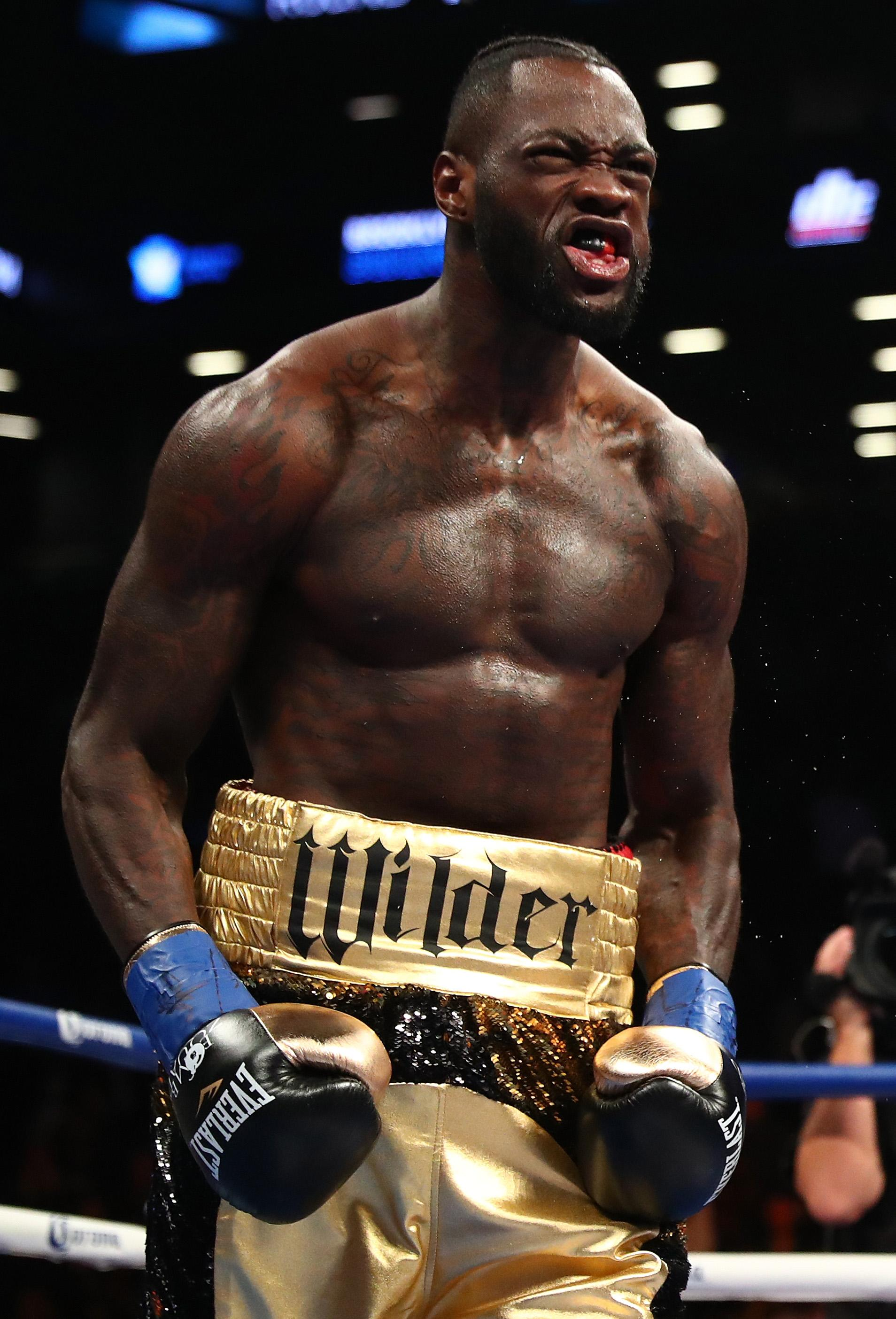 Wilder told mandatory challenger Dominic Breazeale to bring his son into the ring