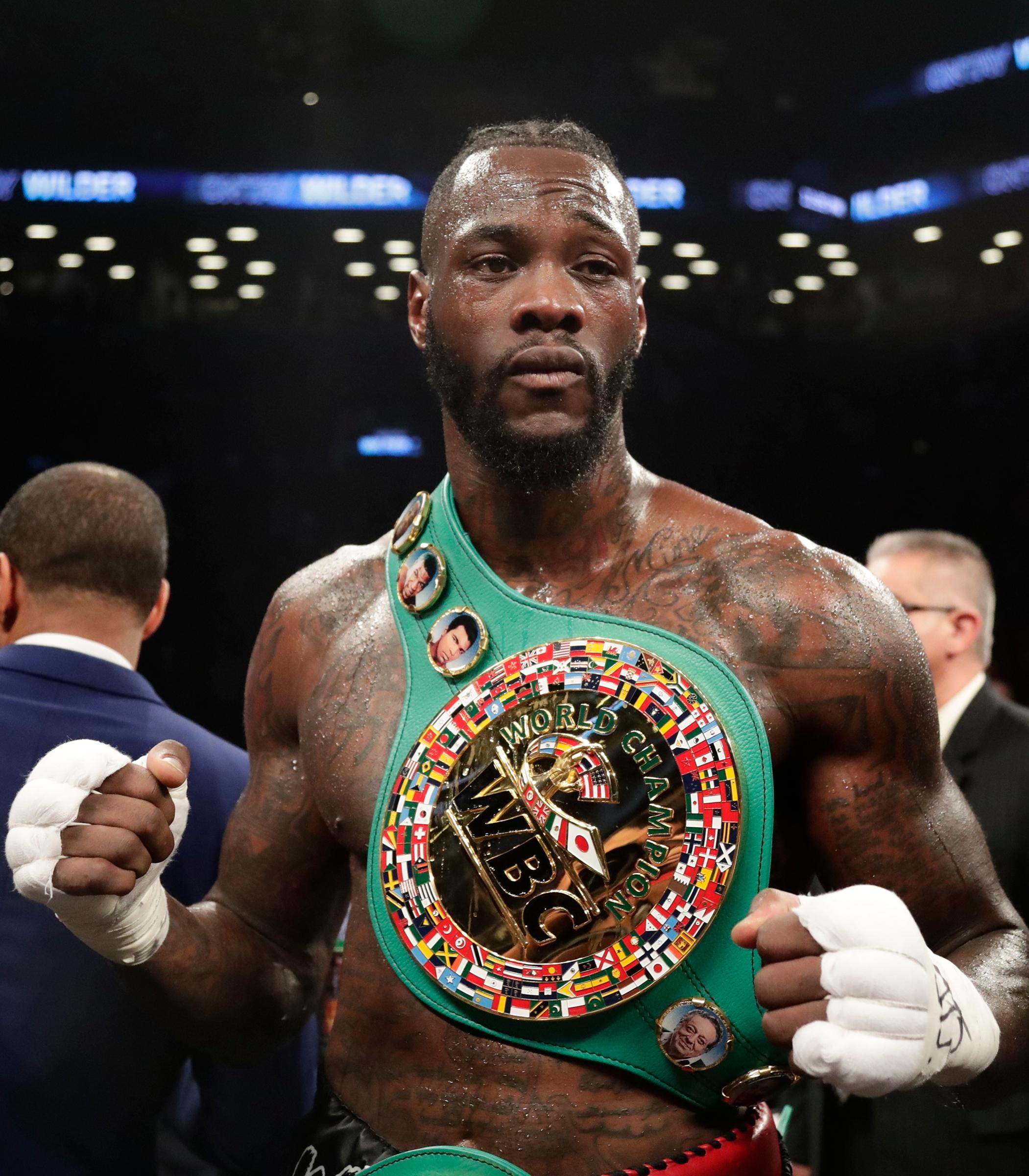 Deontay Wilder holds the WBC belt - the only one Tyson Fury hasn't held himself