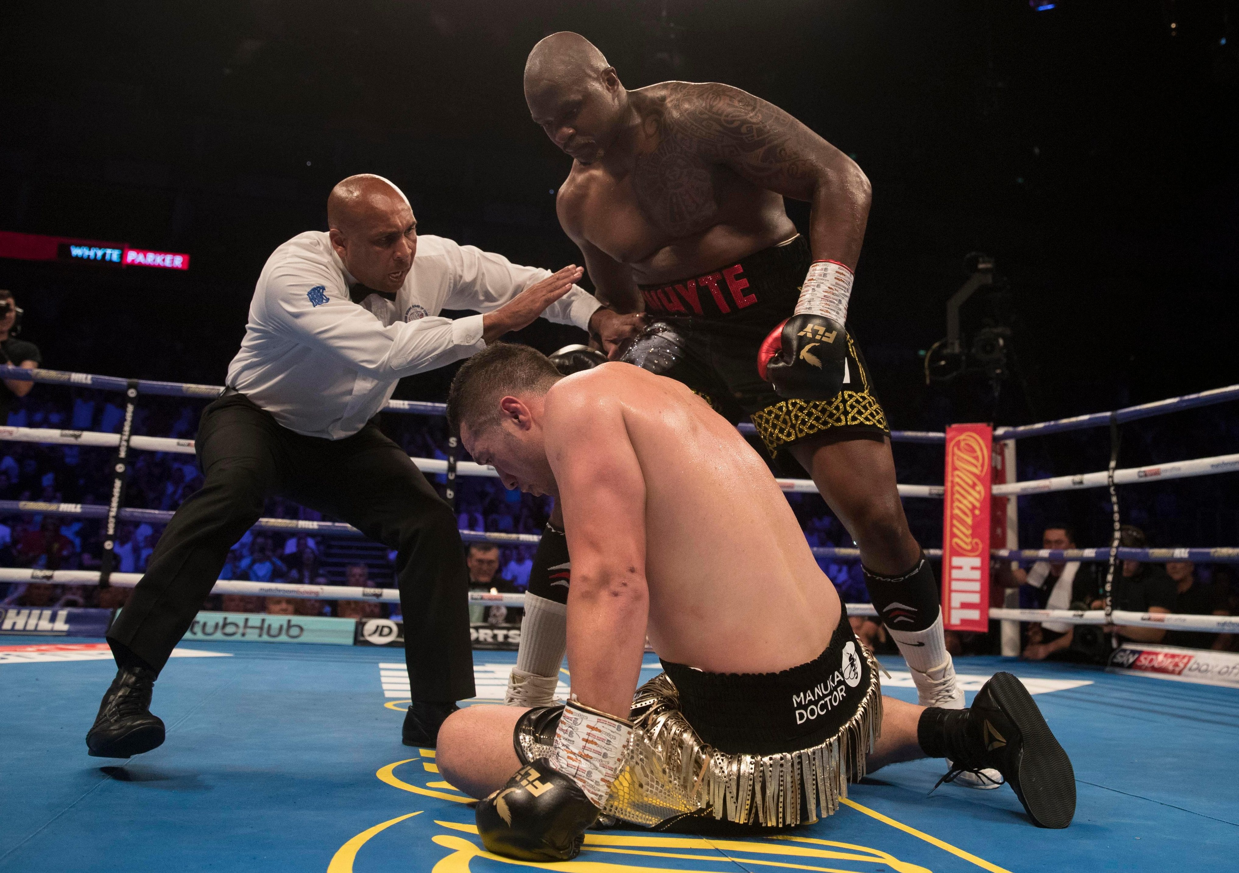 The Kiwi was floored by a headbutt in the second that was counted as a knockdown