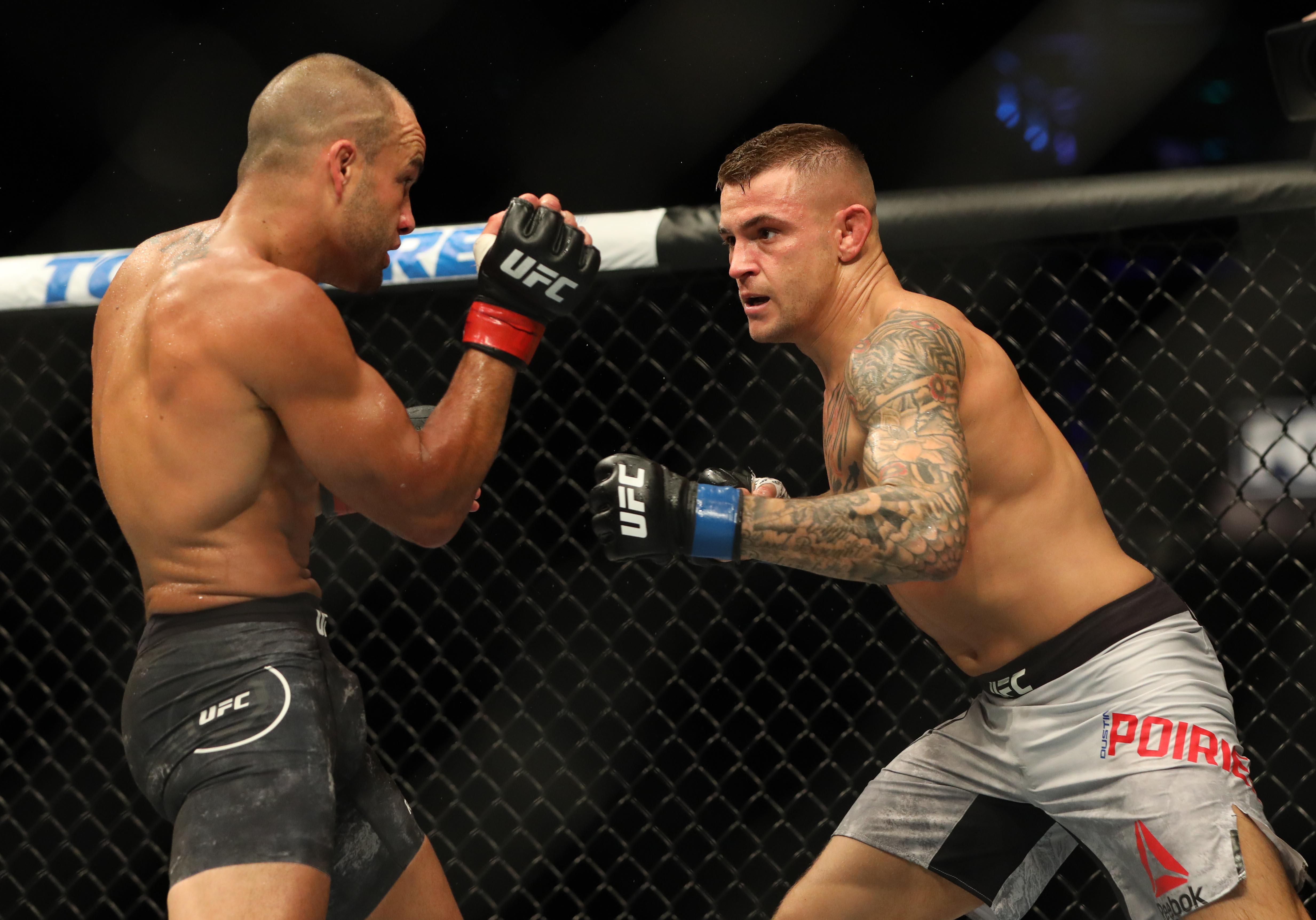 Poirier is fighting off the back of a second round knockout win against Eddie Alvarez