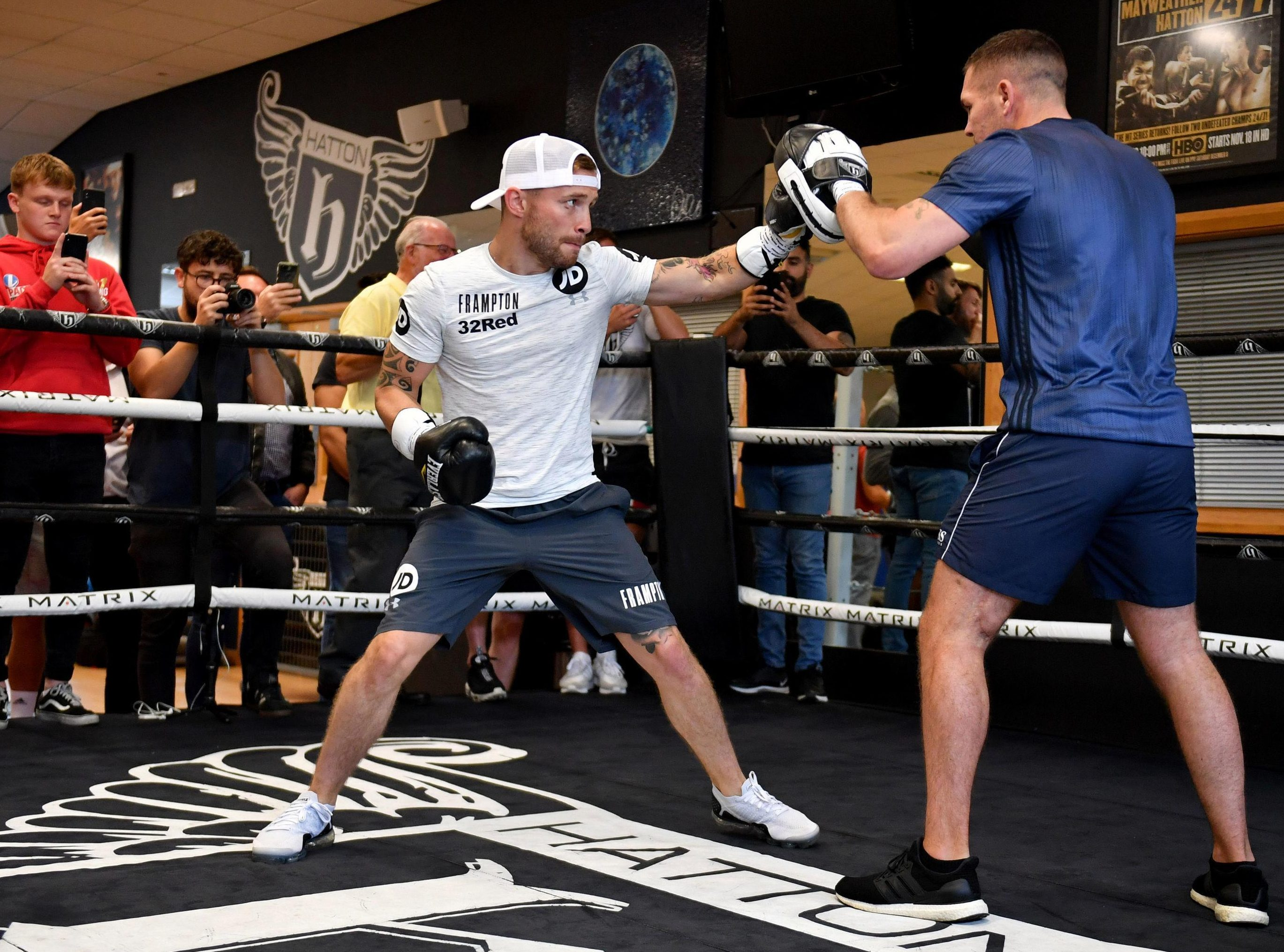 Frampton piles on the punches at his media workout