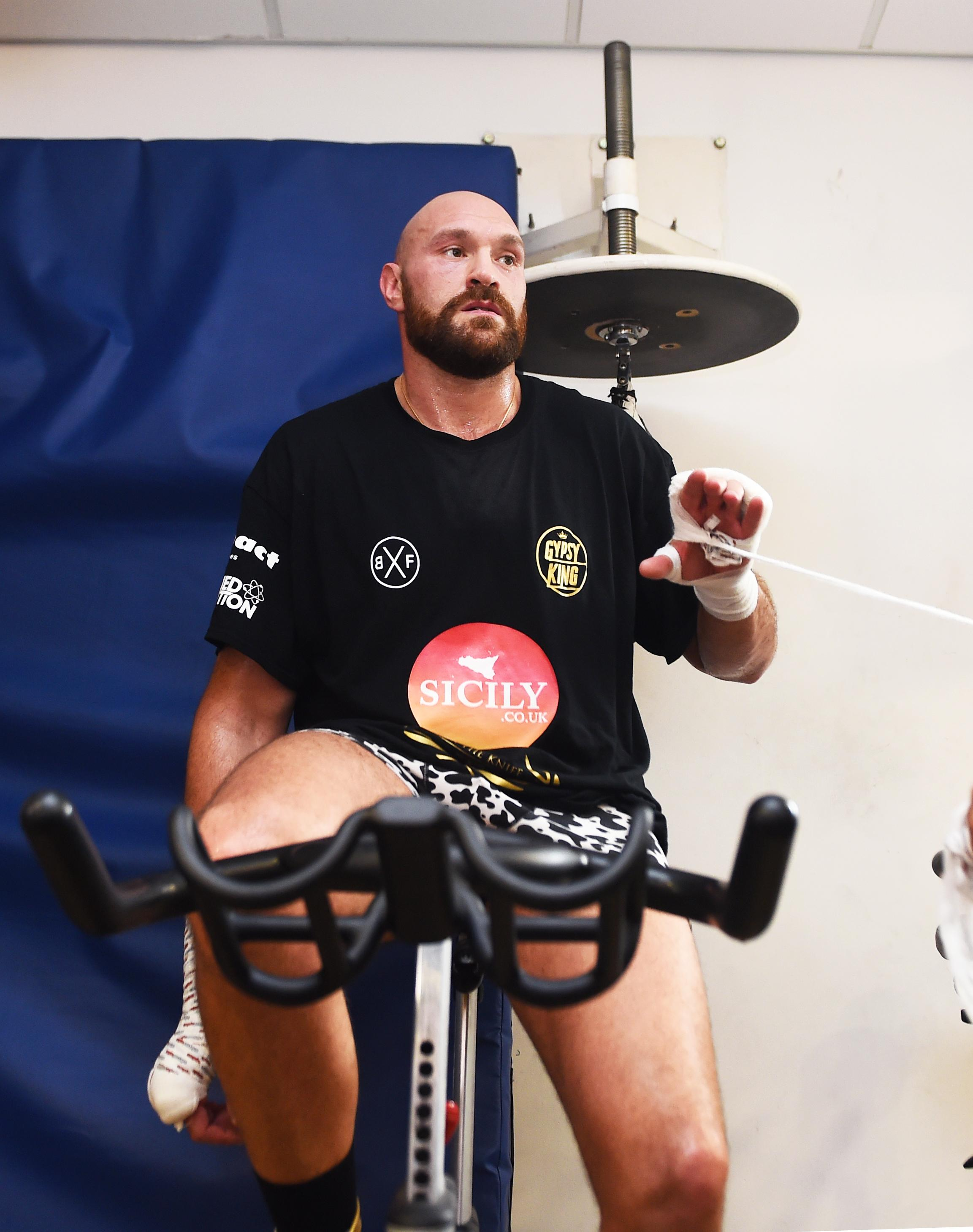 Tyson Fury reacted angrily to Deontay Wilder's comments
