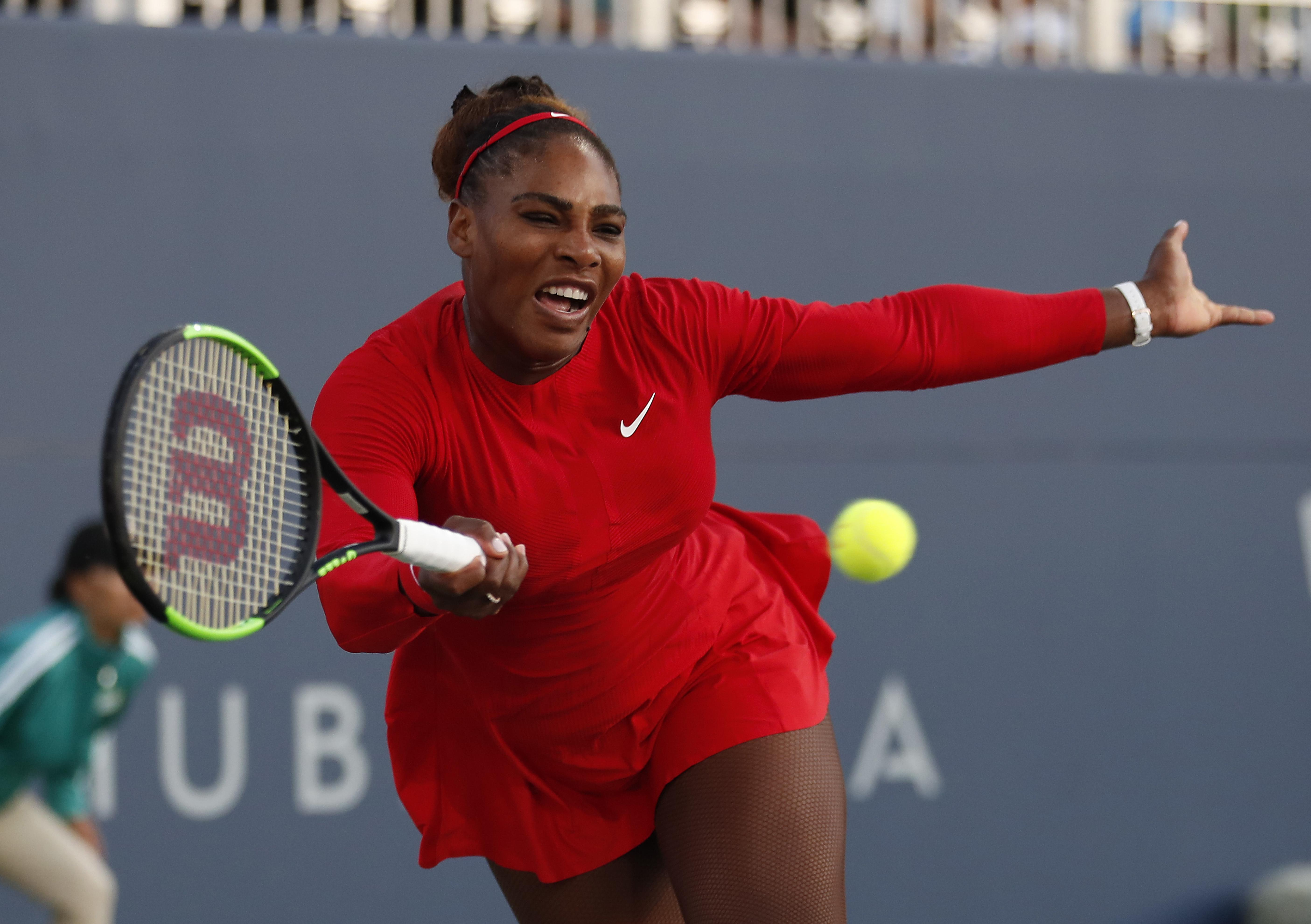 Williams struggled in the first-round defeat
