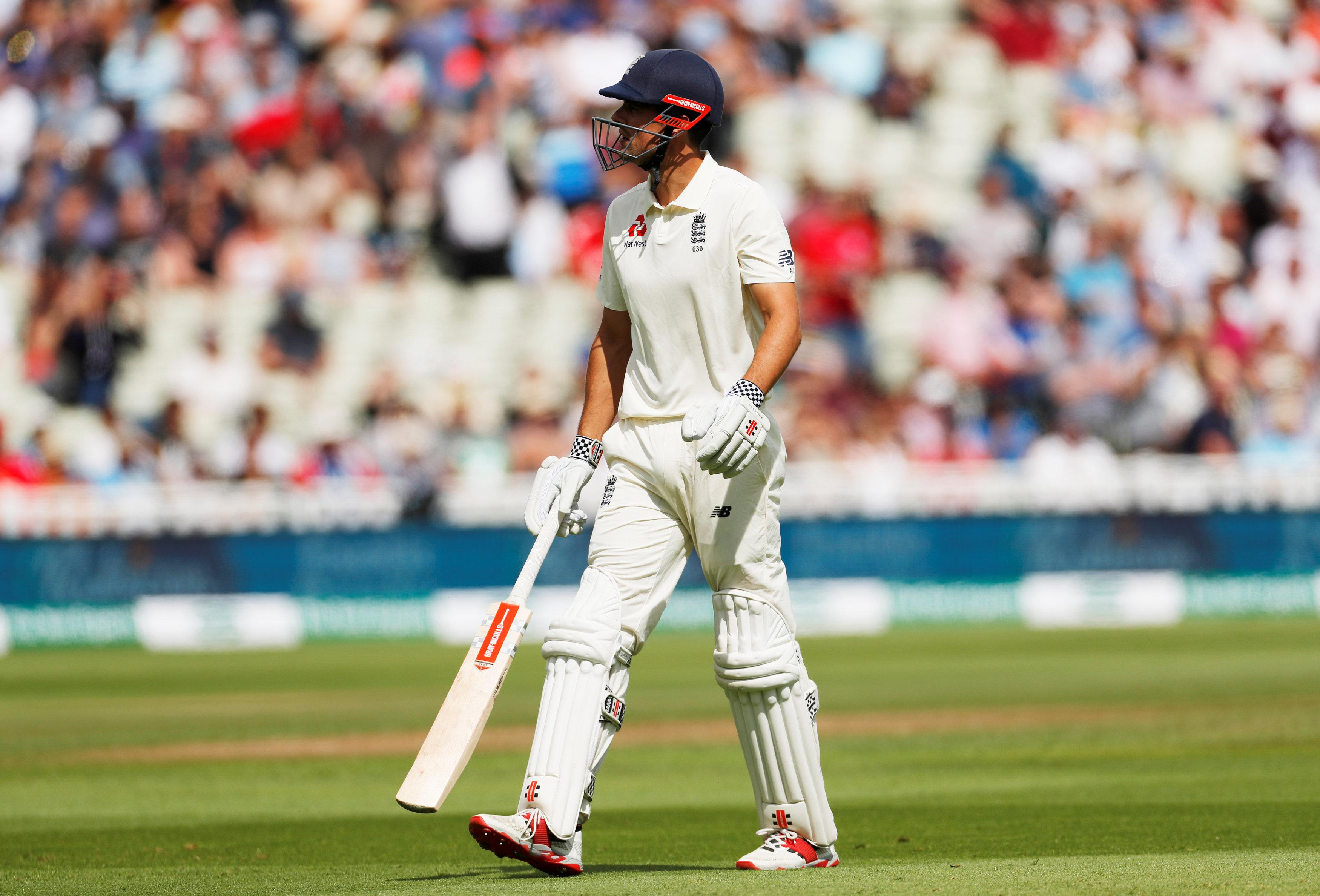 Alastair Cook fell cheaply on the morning of day four as England slid to defeat