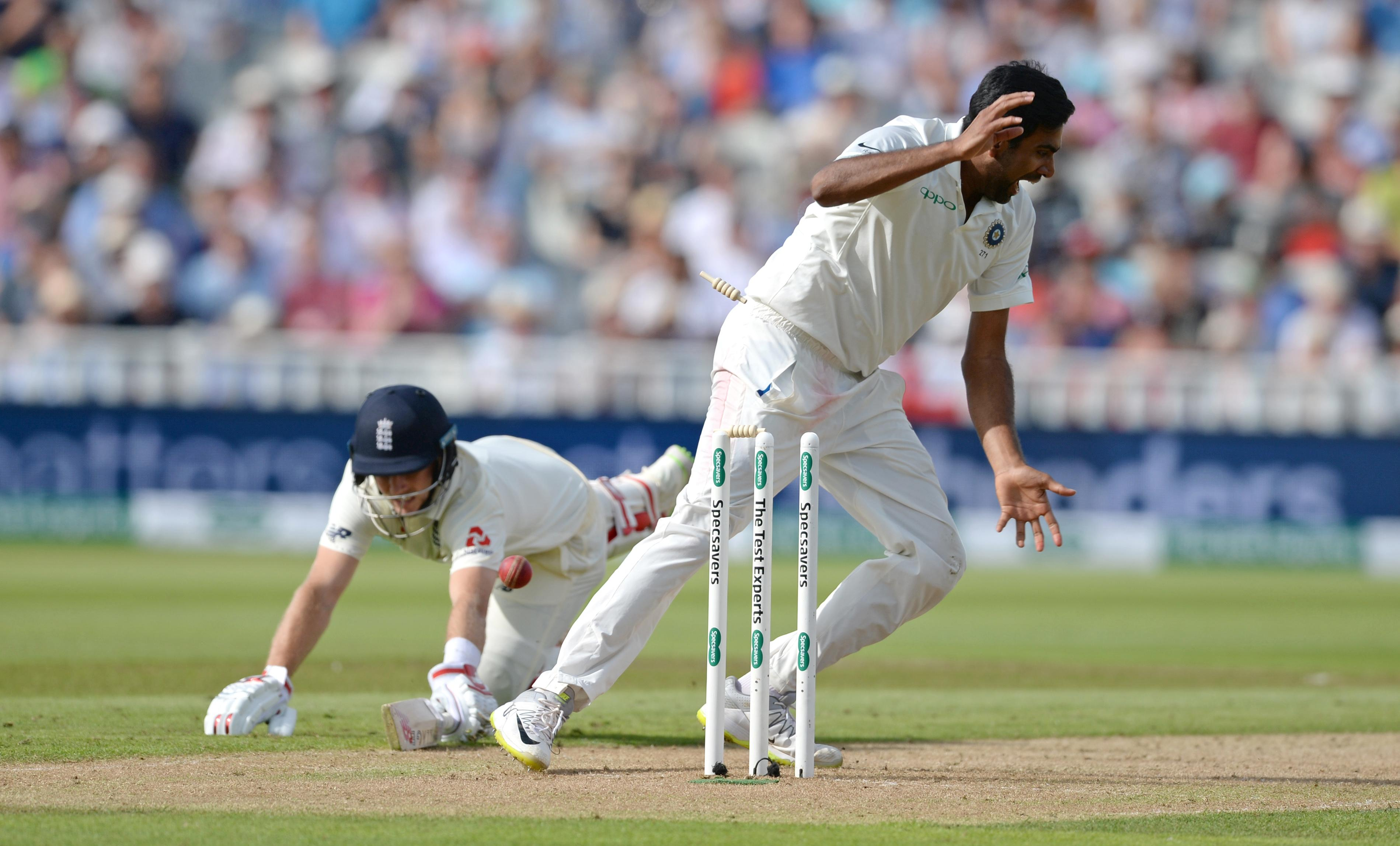 Root was left floundering when Kohli scored a direct hit to run him out