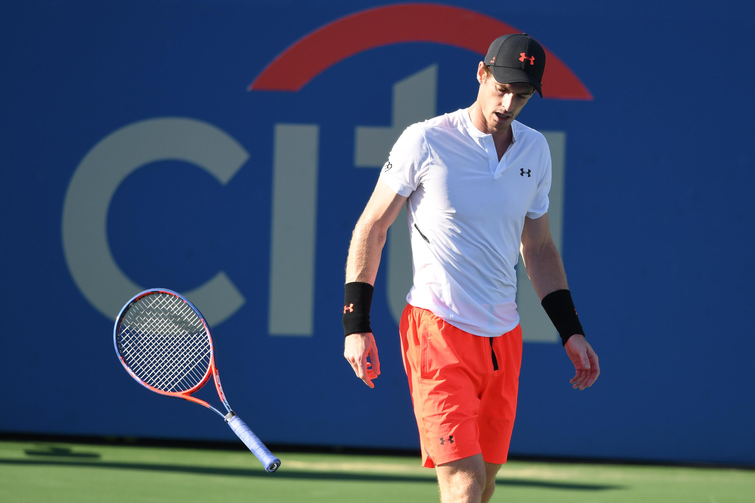 Frustrations threatened to get the better of Andy Murray