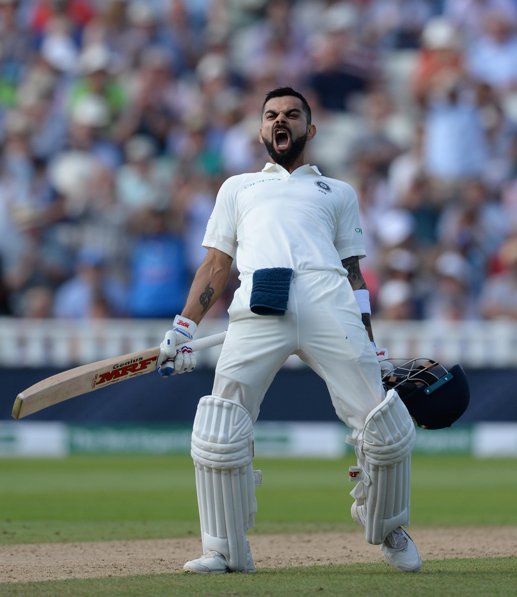 Virat Kohli rescued India with an excellent innings on day two
