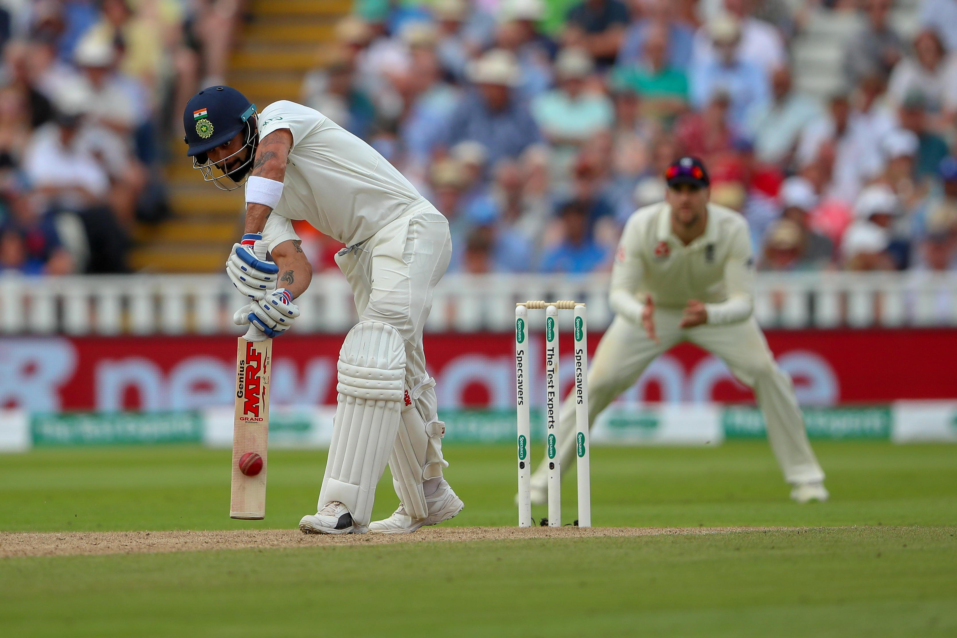 Kohli was eventually dismissed for 149 after staging a brilliantly defiant stand against the England attack