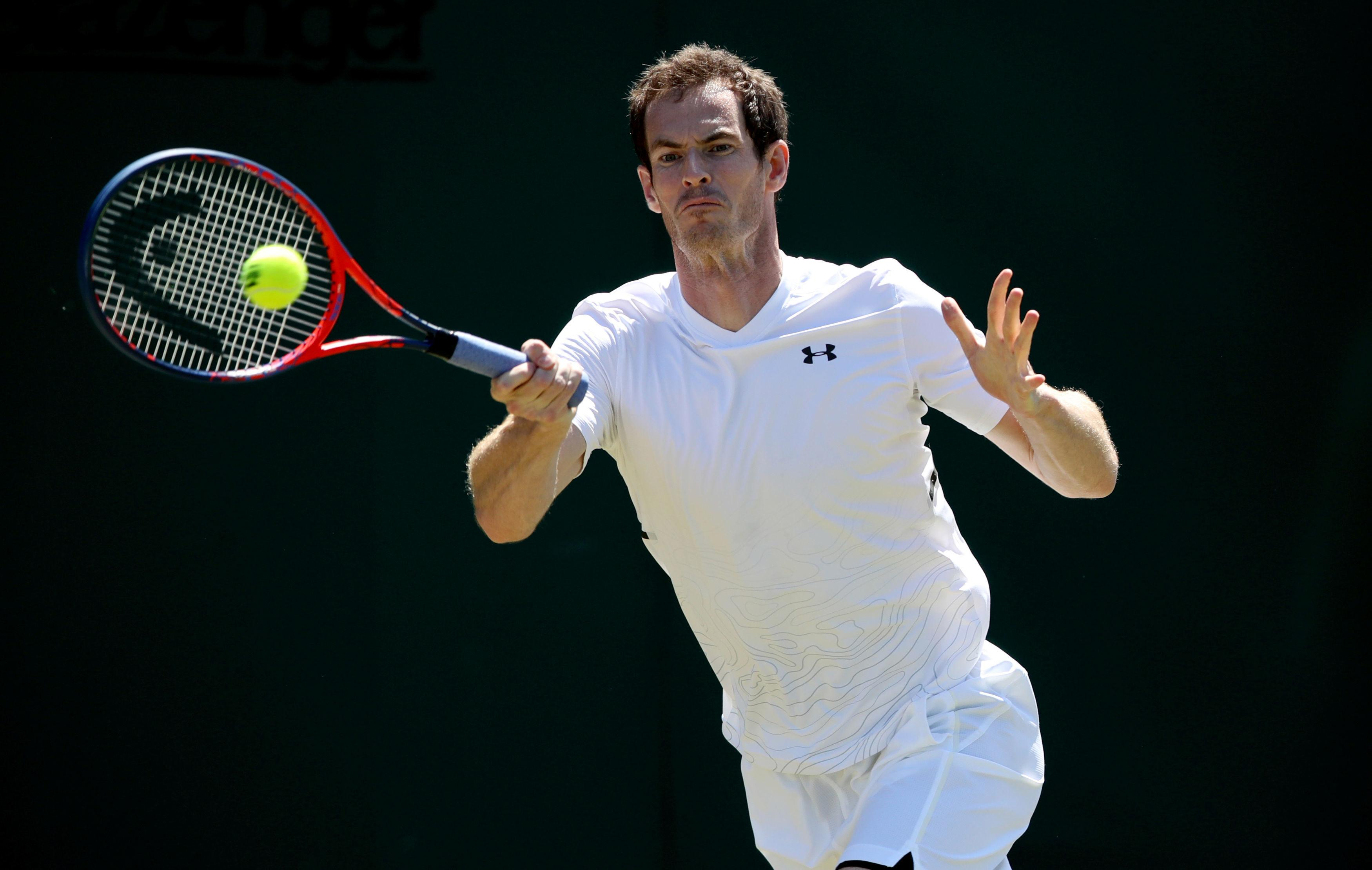 Murray entertained fans' questions during a break from training
