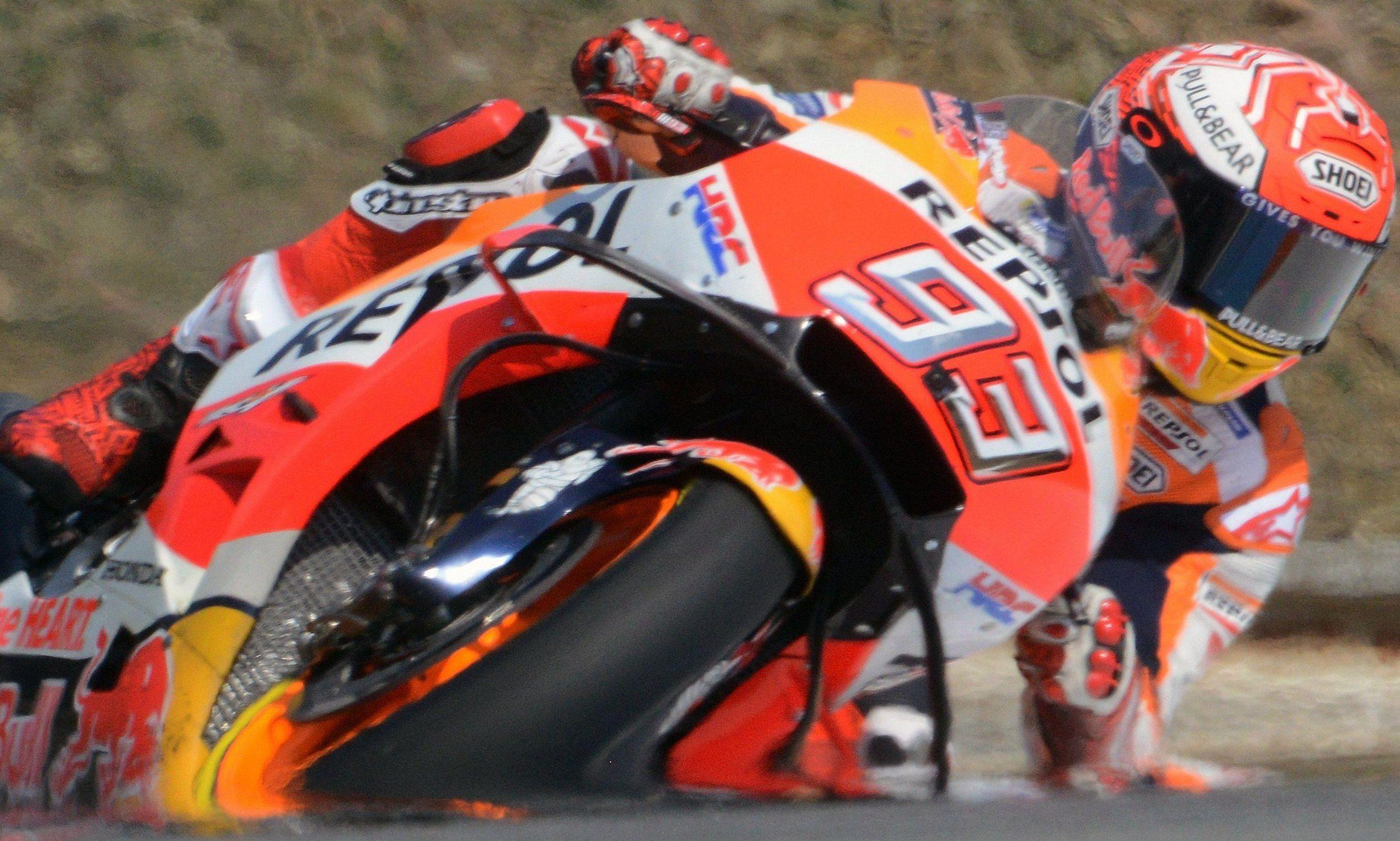 Marquez rides for Honda and has five wins so far this season