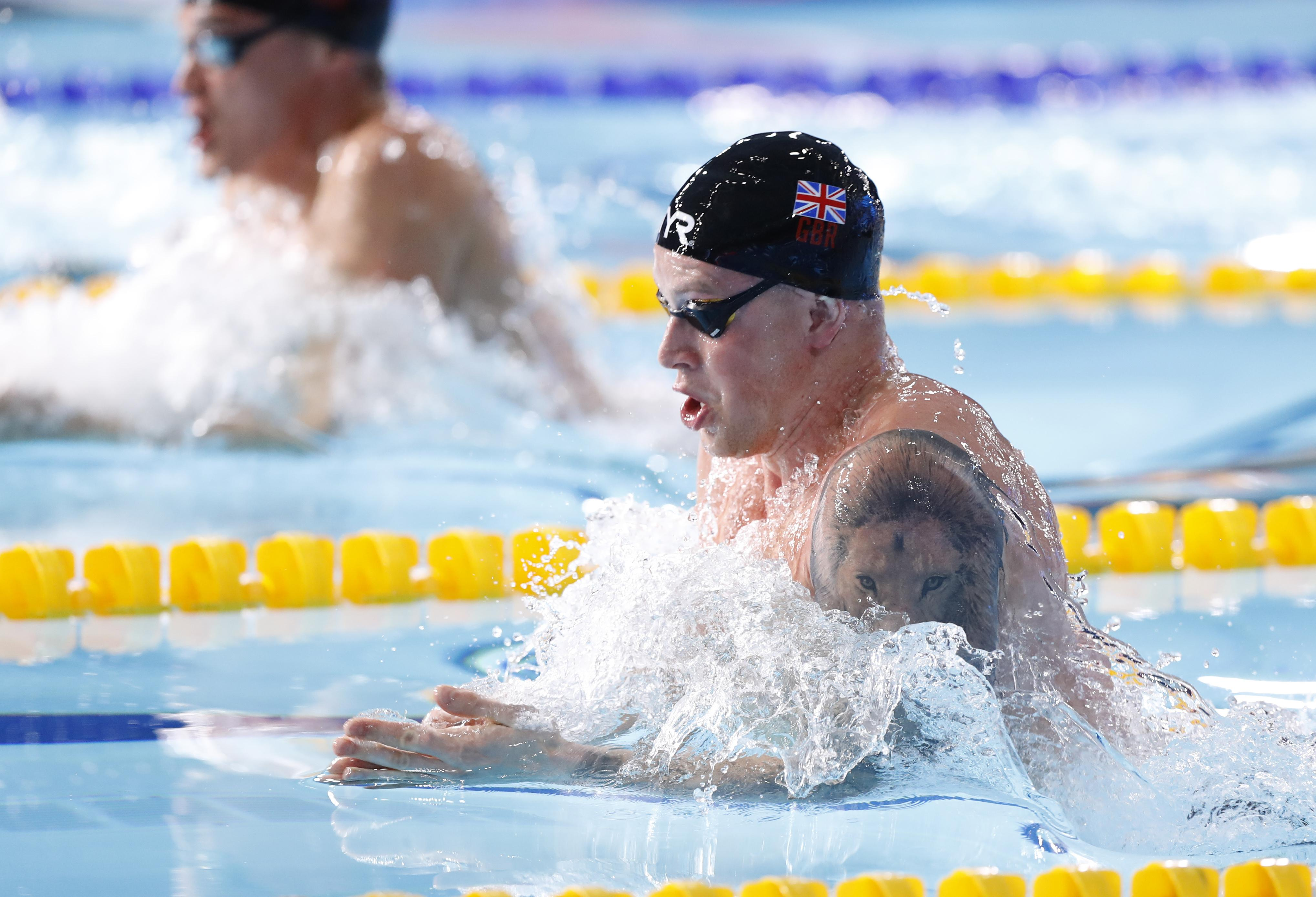 Peaty lowered his own world record on the way to defending his European title
