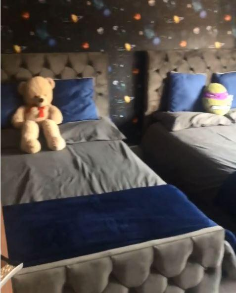 The kids bedrooms looked cosier than ever