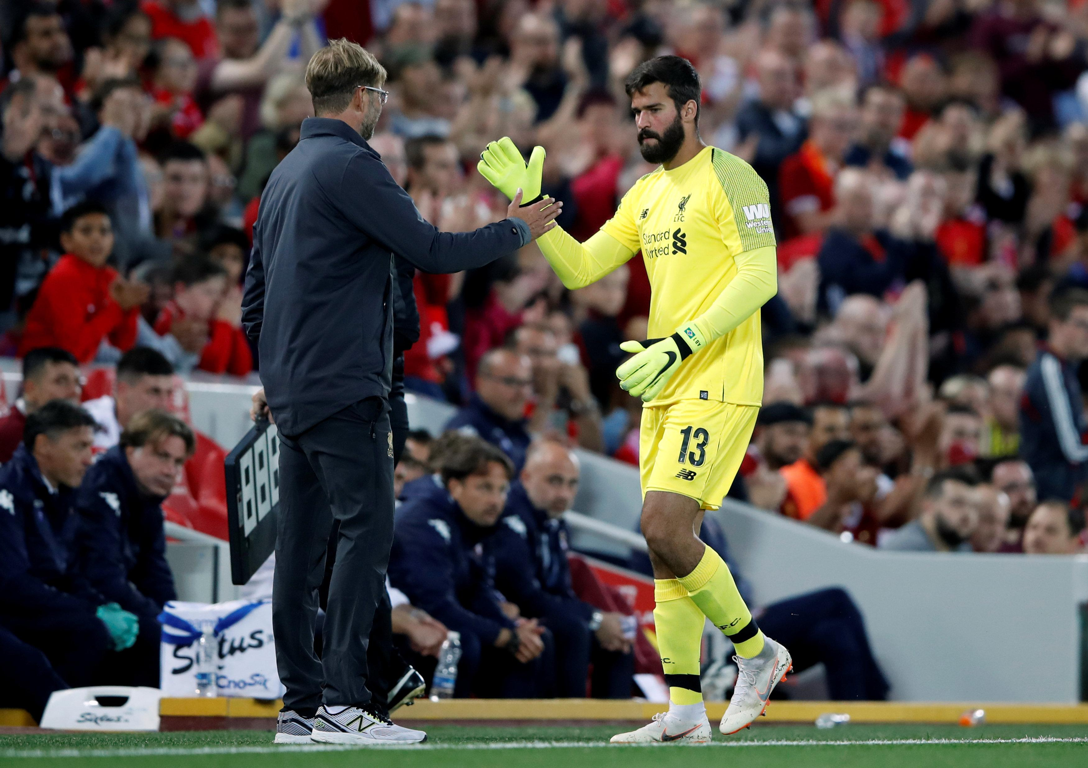 Klopp broke the world record fee for a goalkeeper when he netted Roma's Alisson