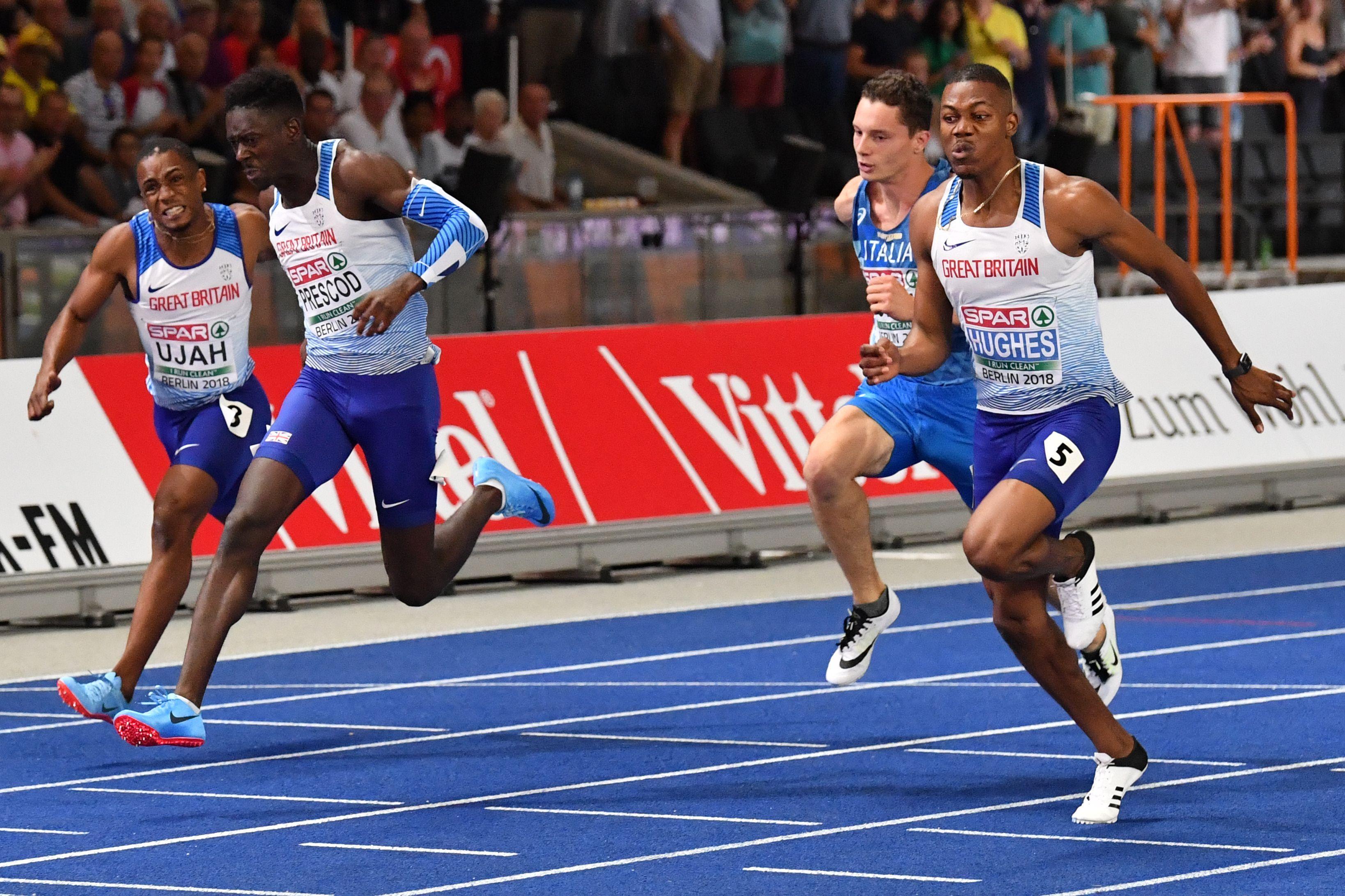 Hughes and Prescod ran an incredibly exciting European 100m final