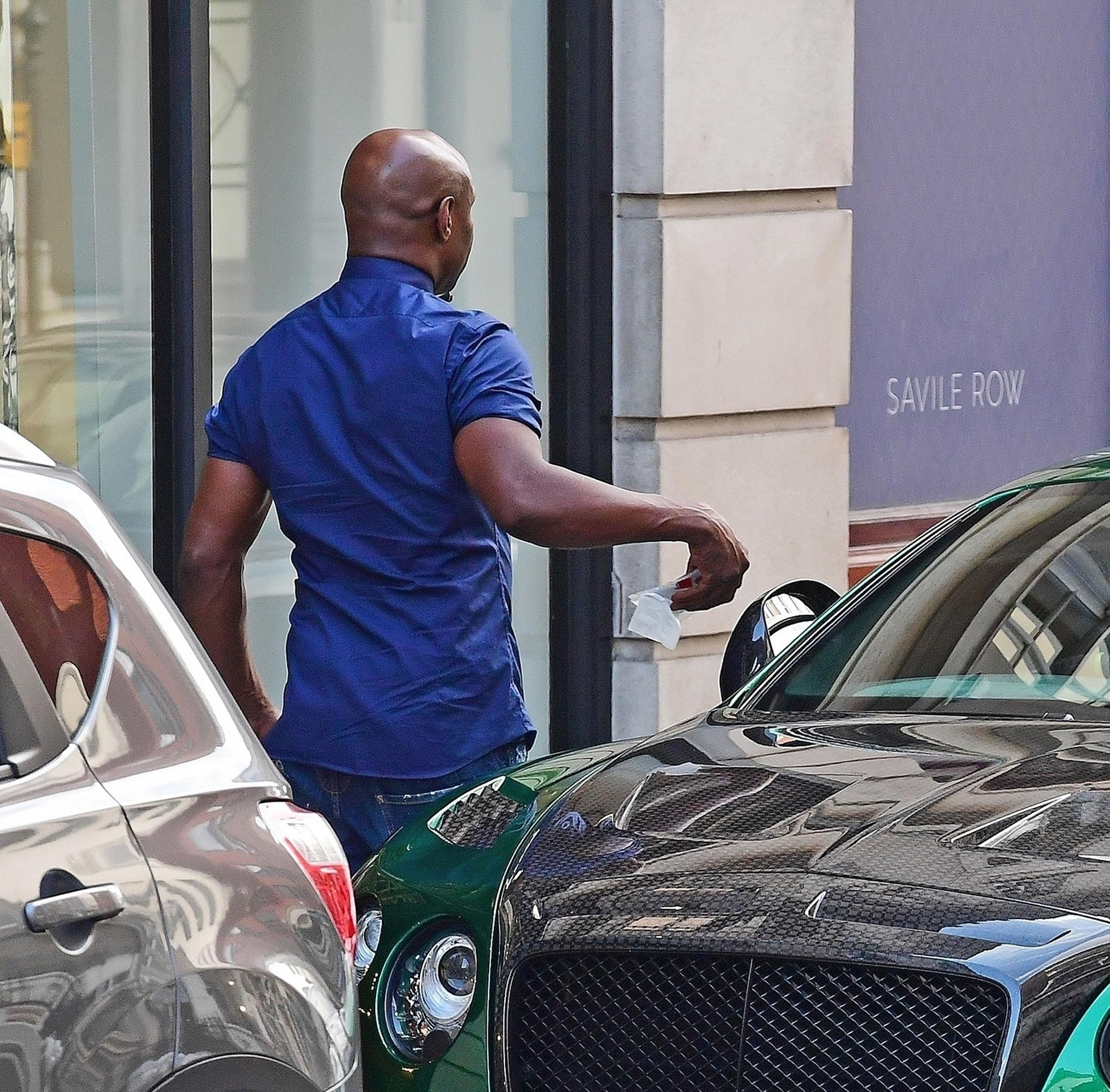 Chris Eubank 'pulled out his own parking ticket and put it on his windscreen'