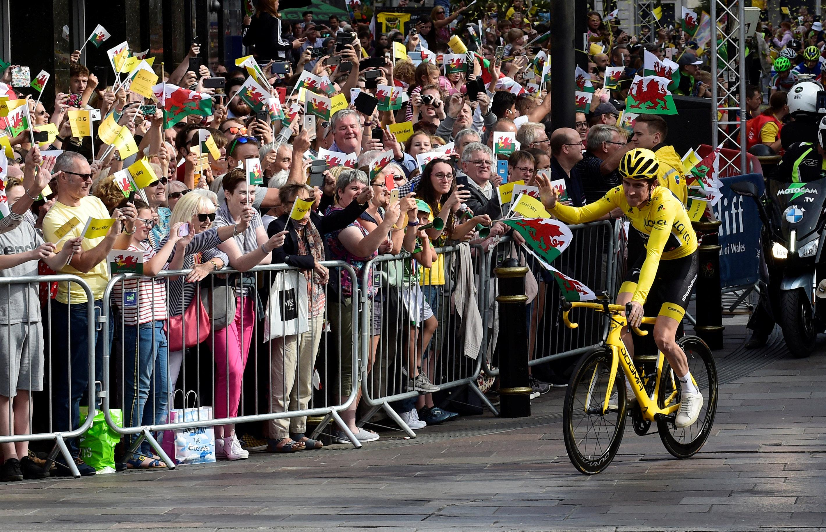 Thomas was basking in the glow of his Tour de France glory after romping to victory on the roads of France - and is now set to sign a new deal with Team Sky