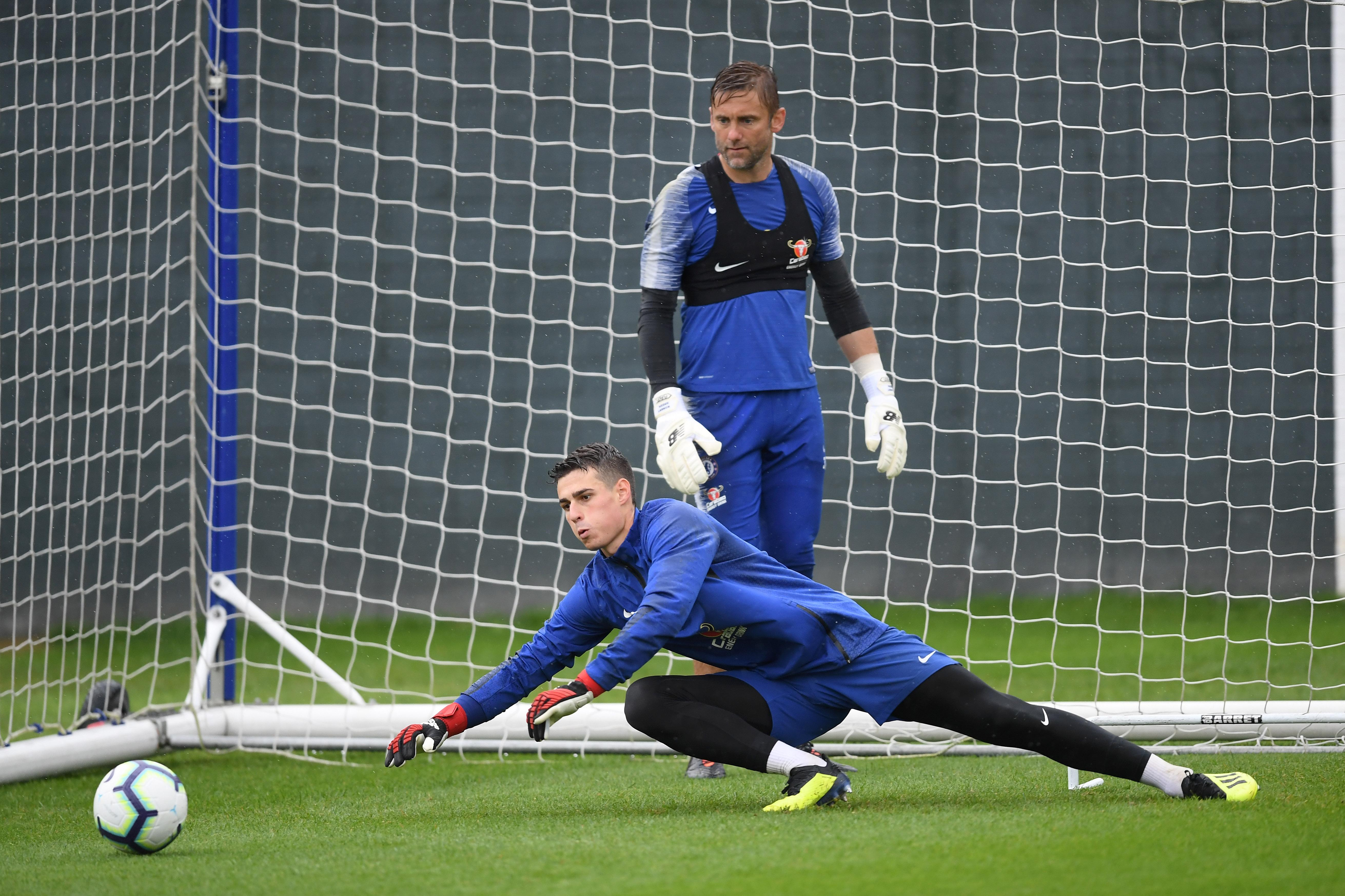 The Spanish goalkeeper took part in his first Chelsea training session on Thursday