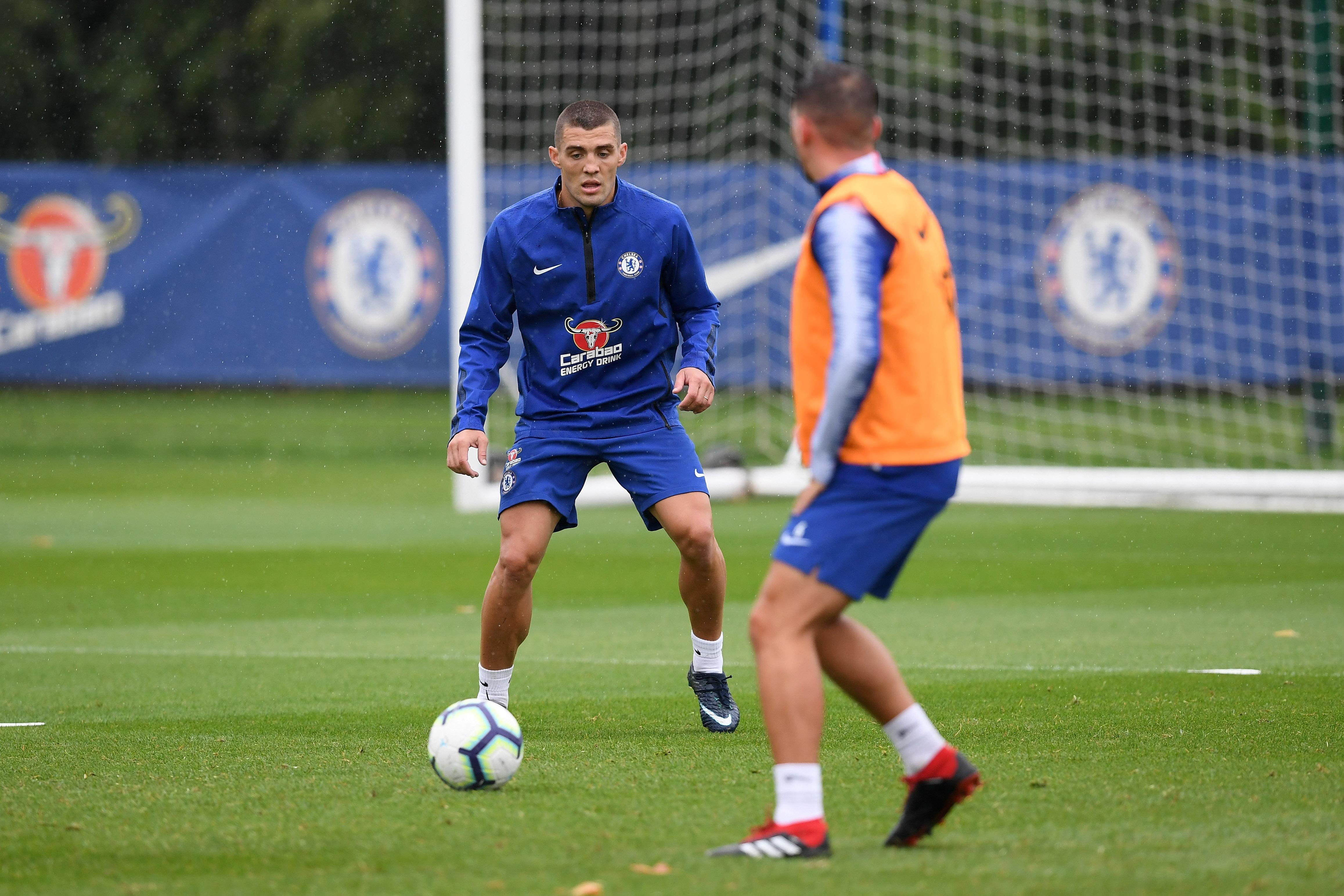 Fellow Chelsea new boy Mateo Kovacic, who joined on loan from Real Madrid, also took part in training