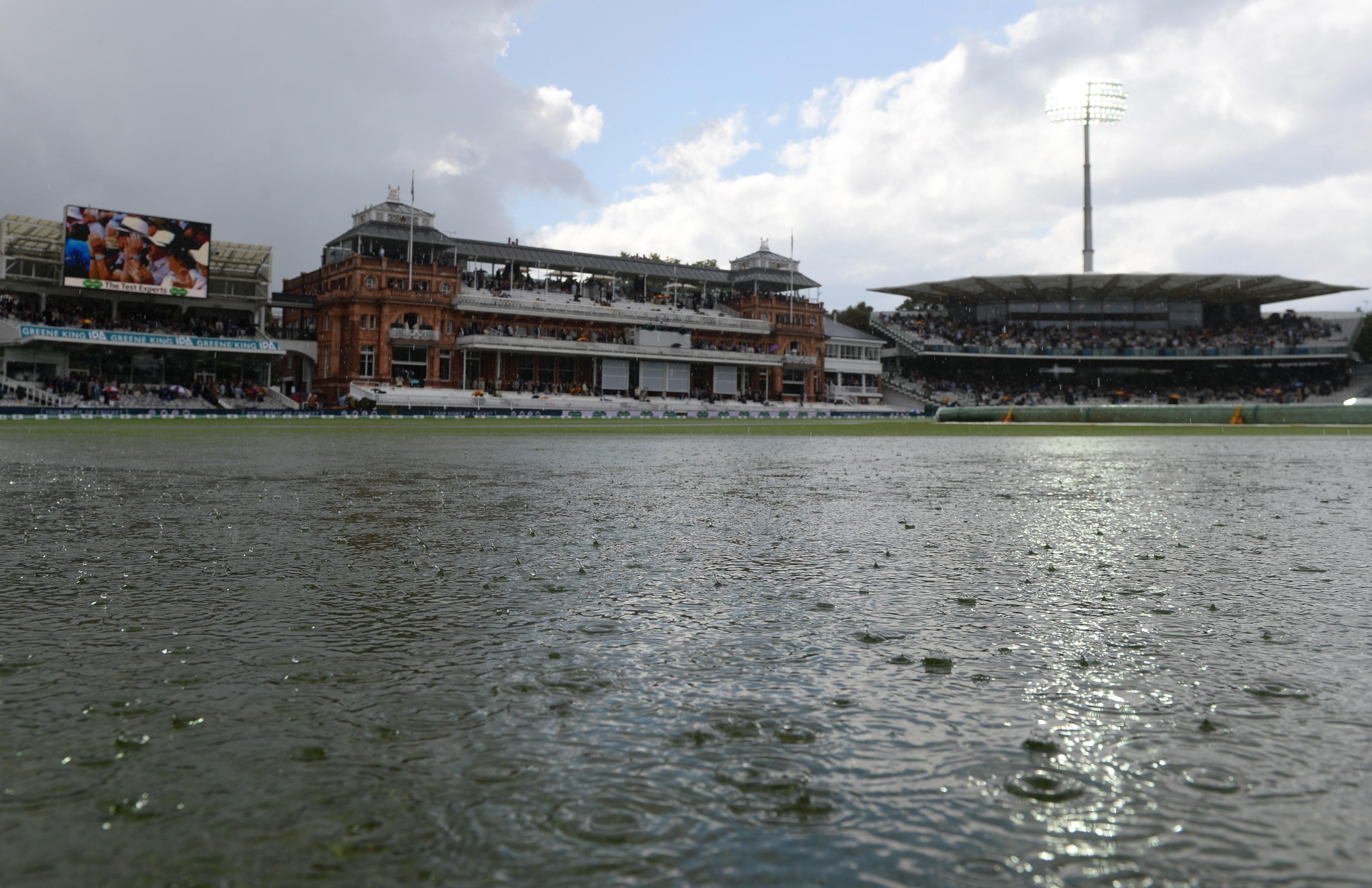 Lord's looked like a lake on Friday with rain causing havoc on day two