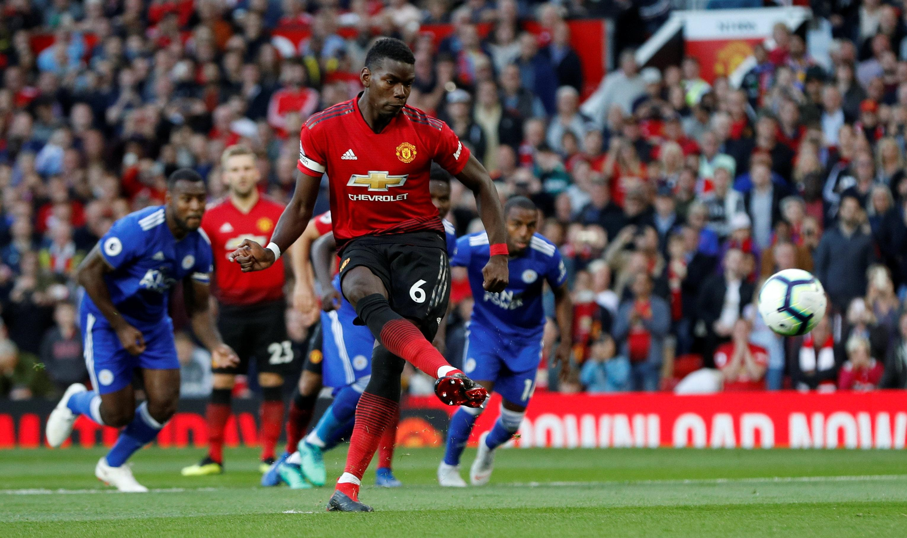 Paul Pogba scored early to get Manchester United off to the best possible start