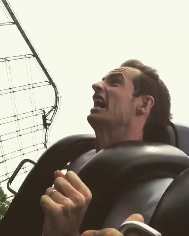 Andy Murray was at Kings Island theme park in Ohio
