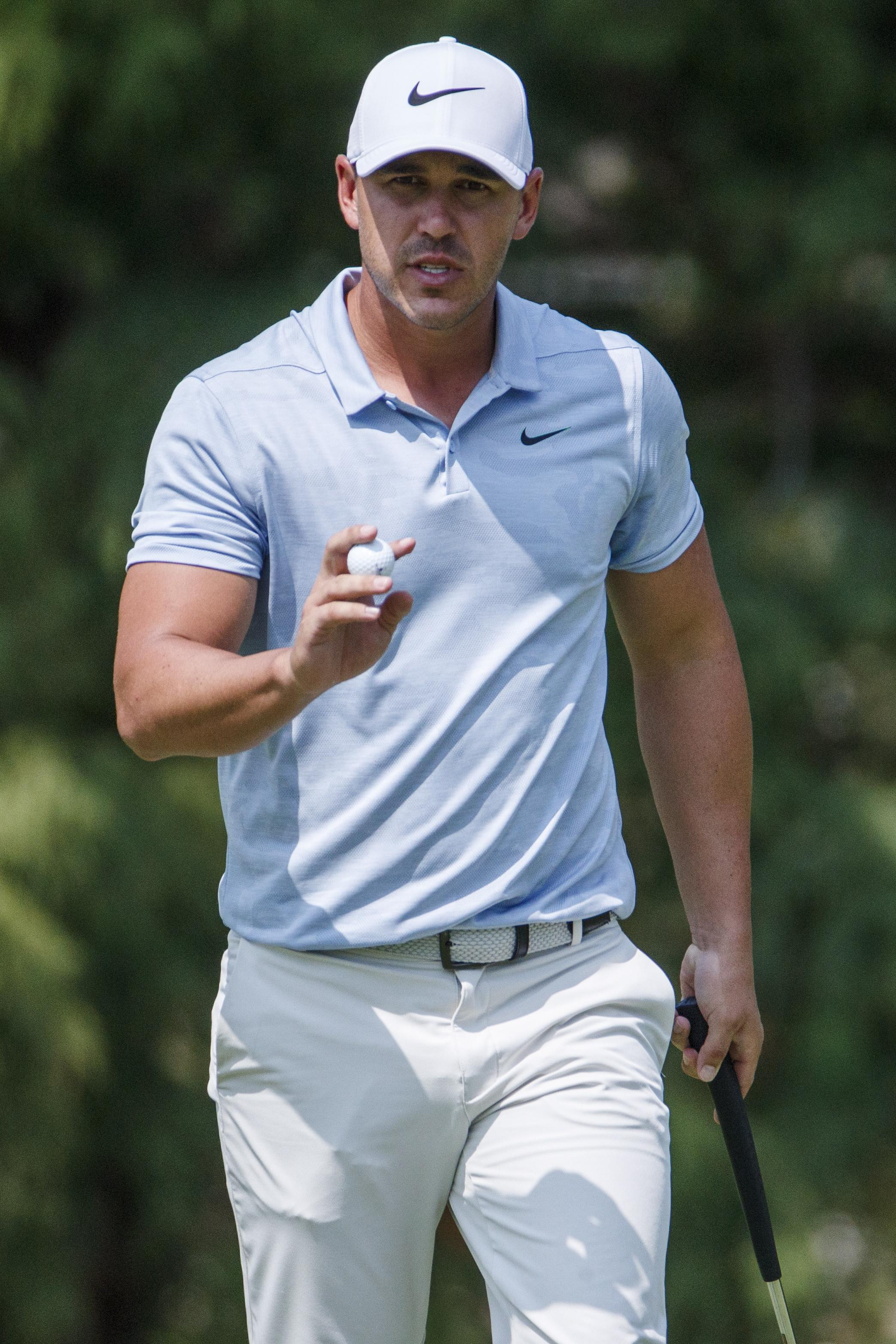 Brooks Koepka kept his cool at the top of the leaderboard